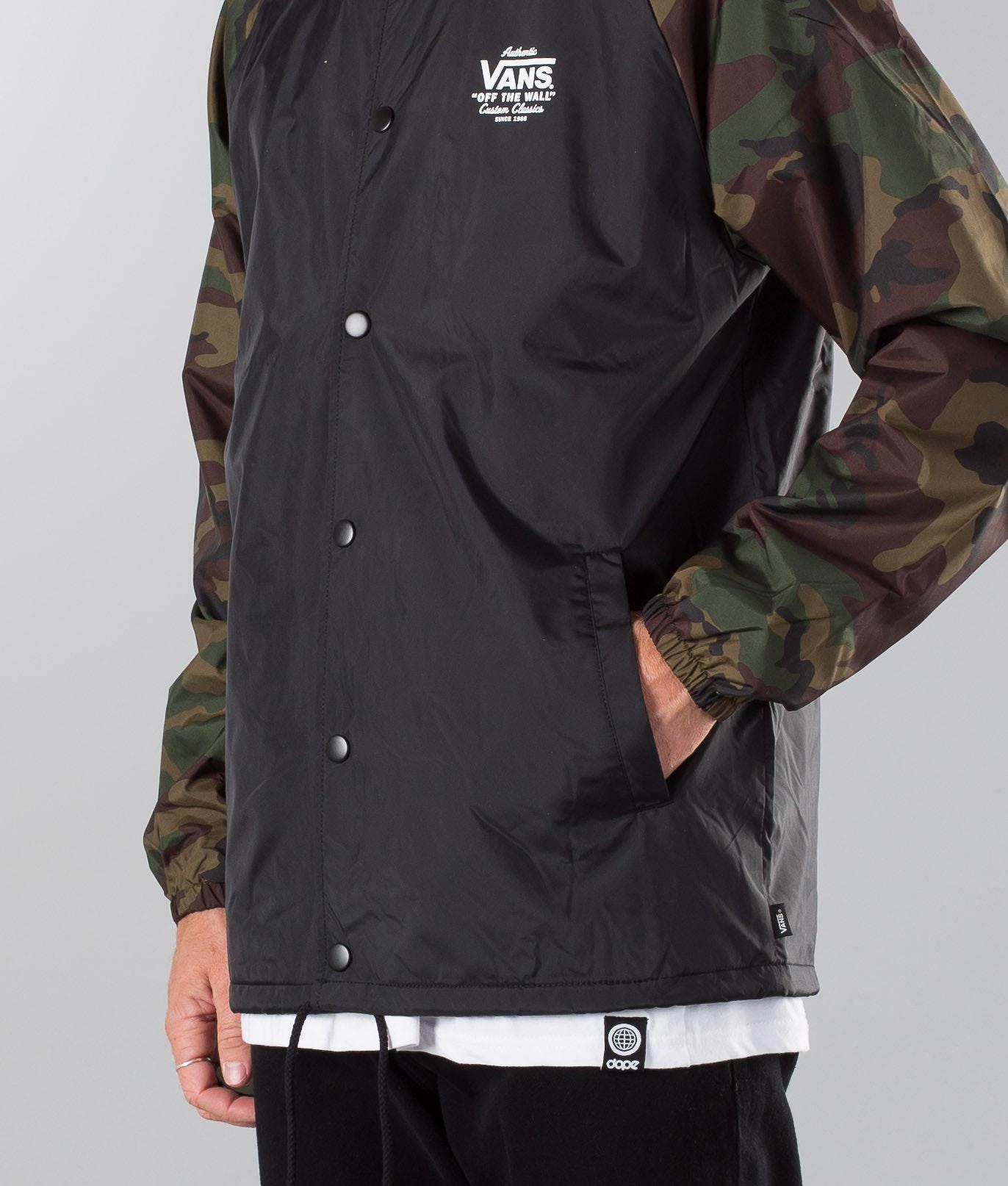 Vans Torrey Jacket Black Camo Ridestore Com
