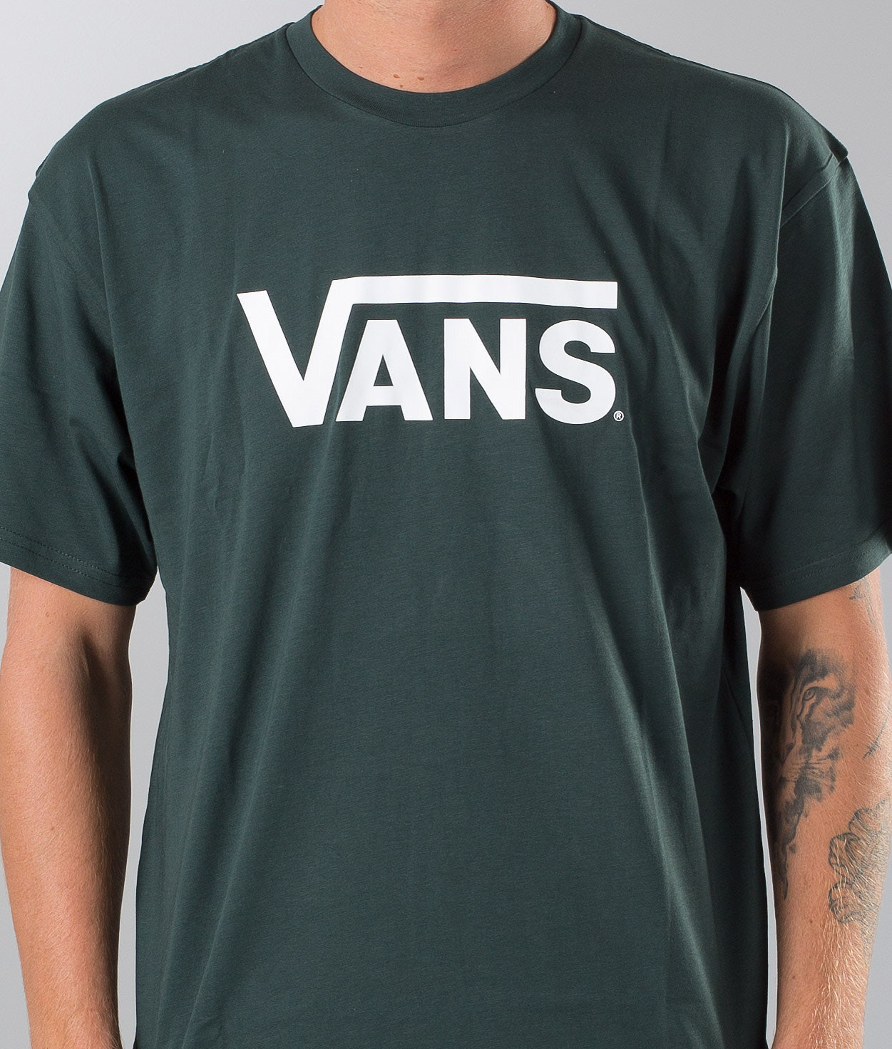 d7caa4dbfecaa5 Vans Vans Classic T-shirt Darkest Spruce-White - Ridestore.com