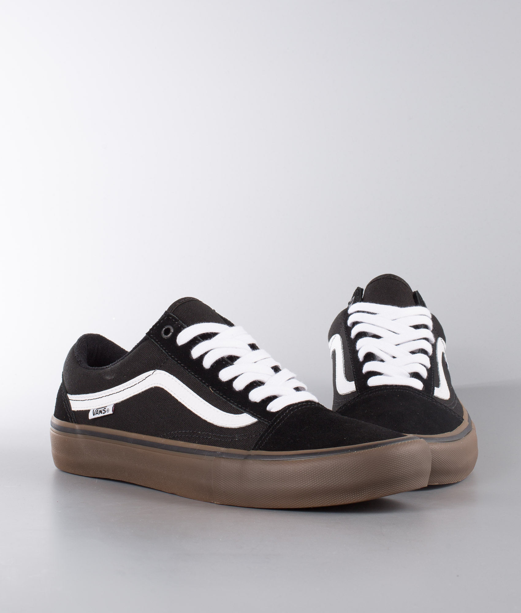 Vans Old Skool Pro Schuhe Black/White/Medium Gum