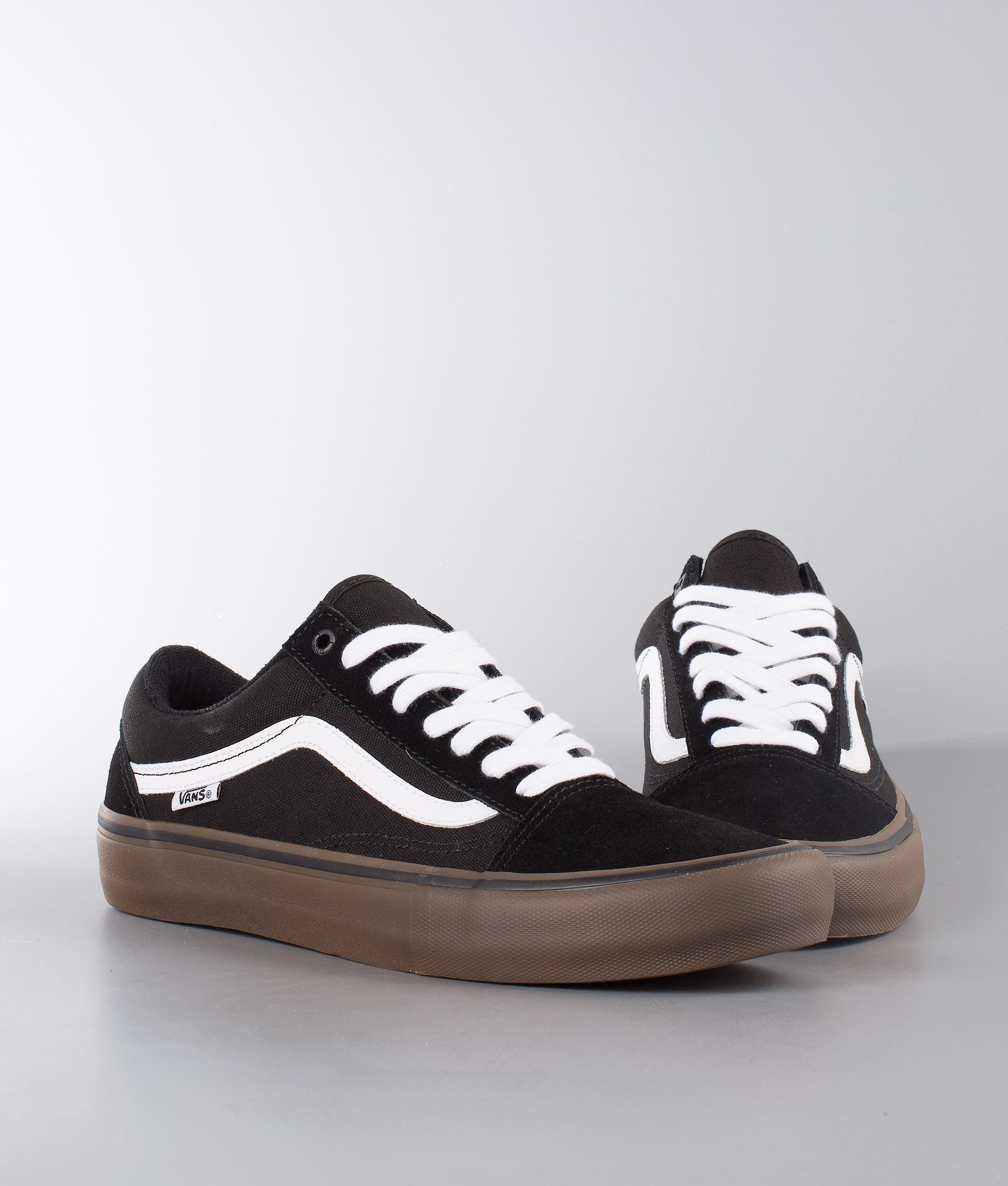 620fdf8018 Vans Old Skool Pro Shoes Black White Medium Gum - Ridestore.com