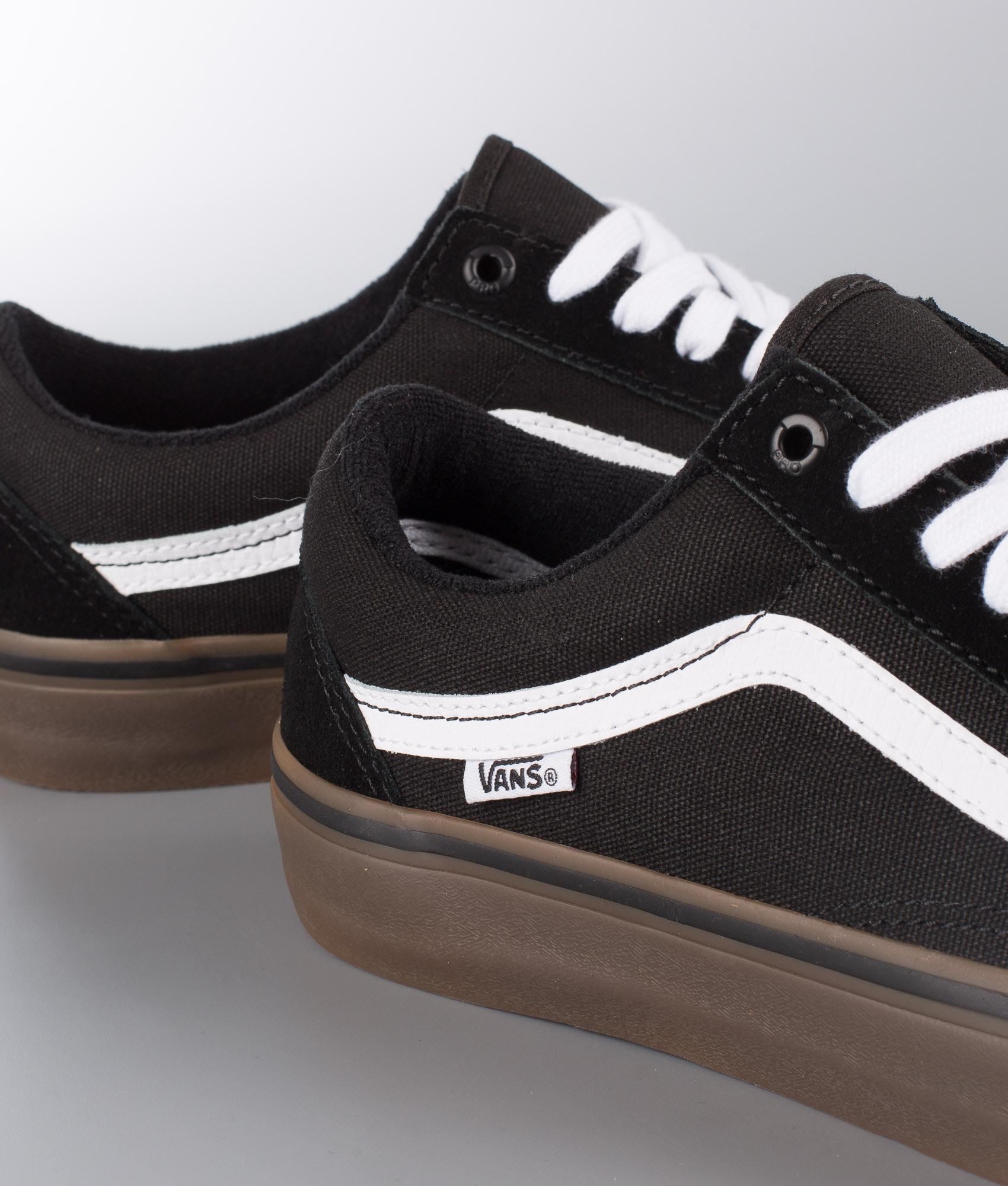 e2b5f00769b Vans Old Skool Pro Shoes Black White Medium Gum - Ridestore.com