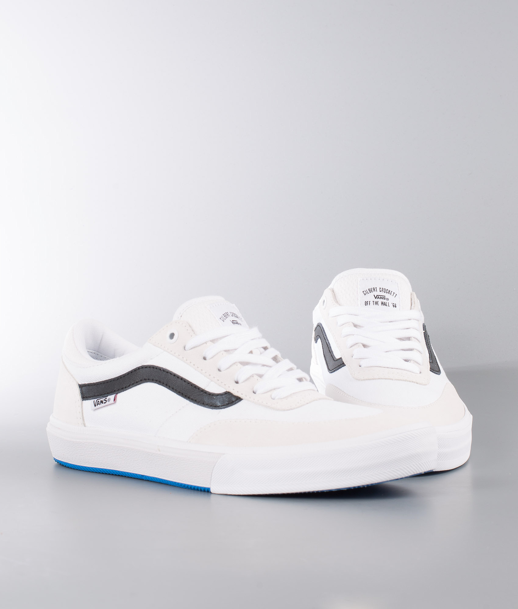 e265ccc95ac Vans Gilbert Crockett 2 Pro Shoes True White Black - Ridestore.com
