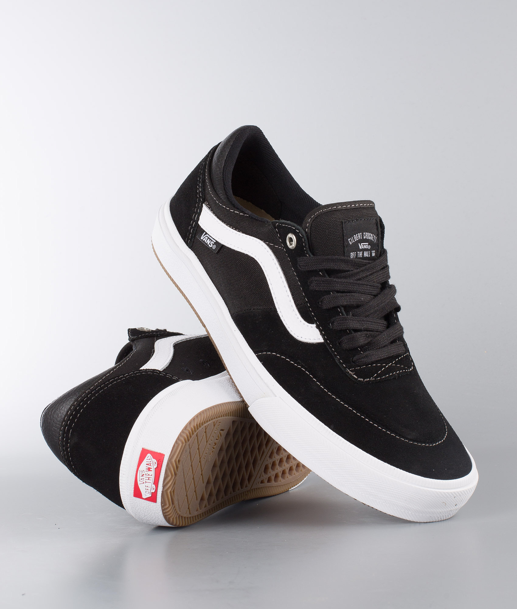 df0ee05ea69562 Vans Gilbert Crockett 2 Pro Shoes Black White - Ridestore.com