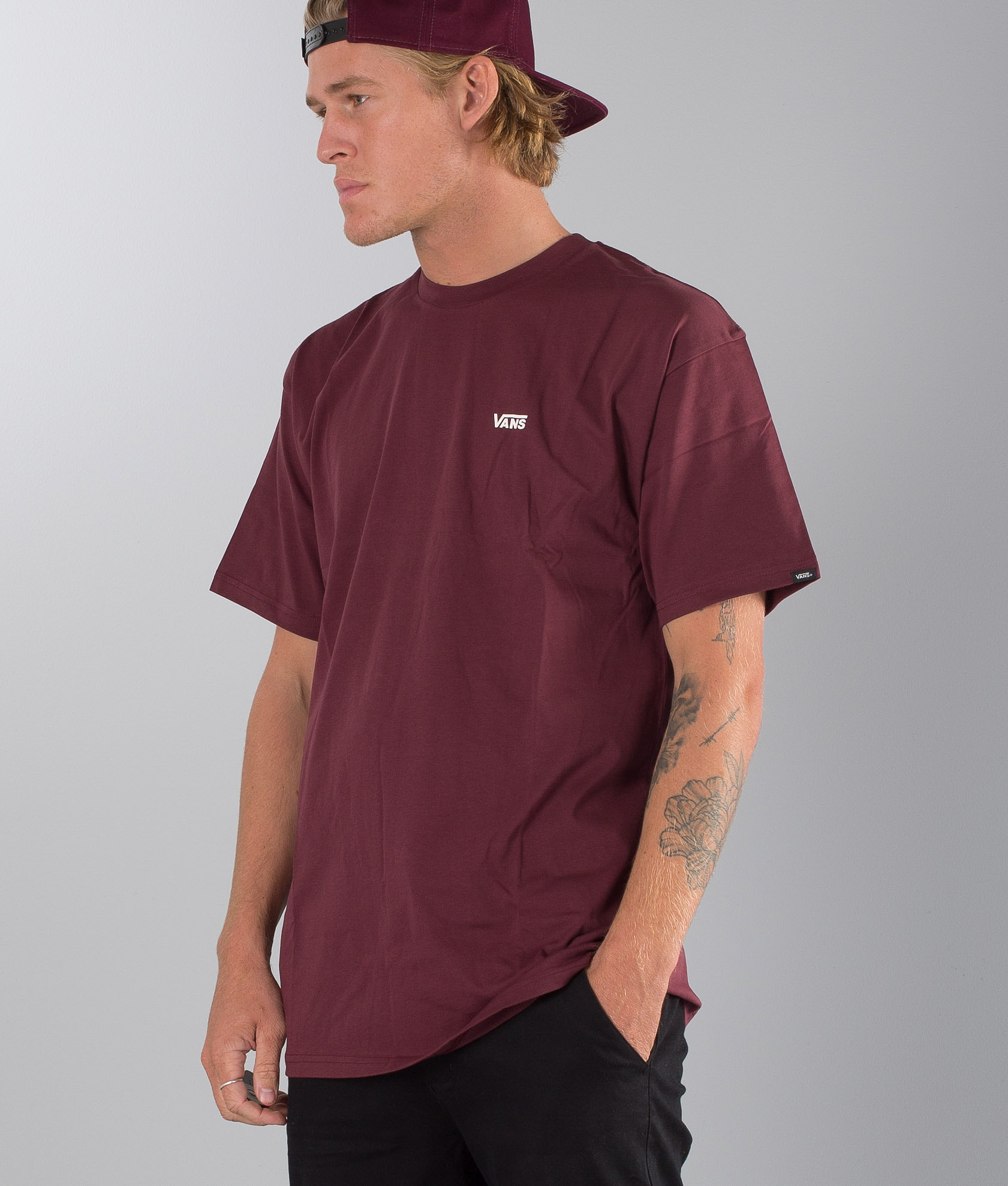 9eae6cfc8d7df8 Vans Left Chest Logo T-shirt Port Royale - Ridestore.com
