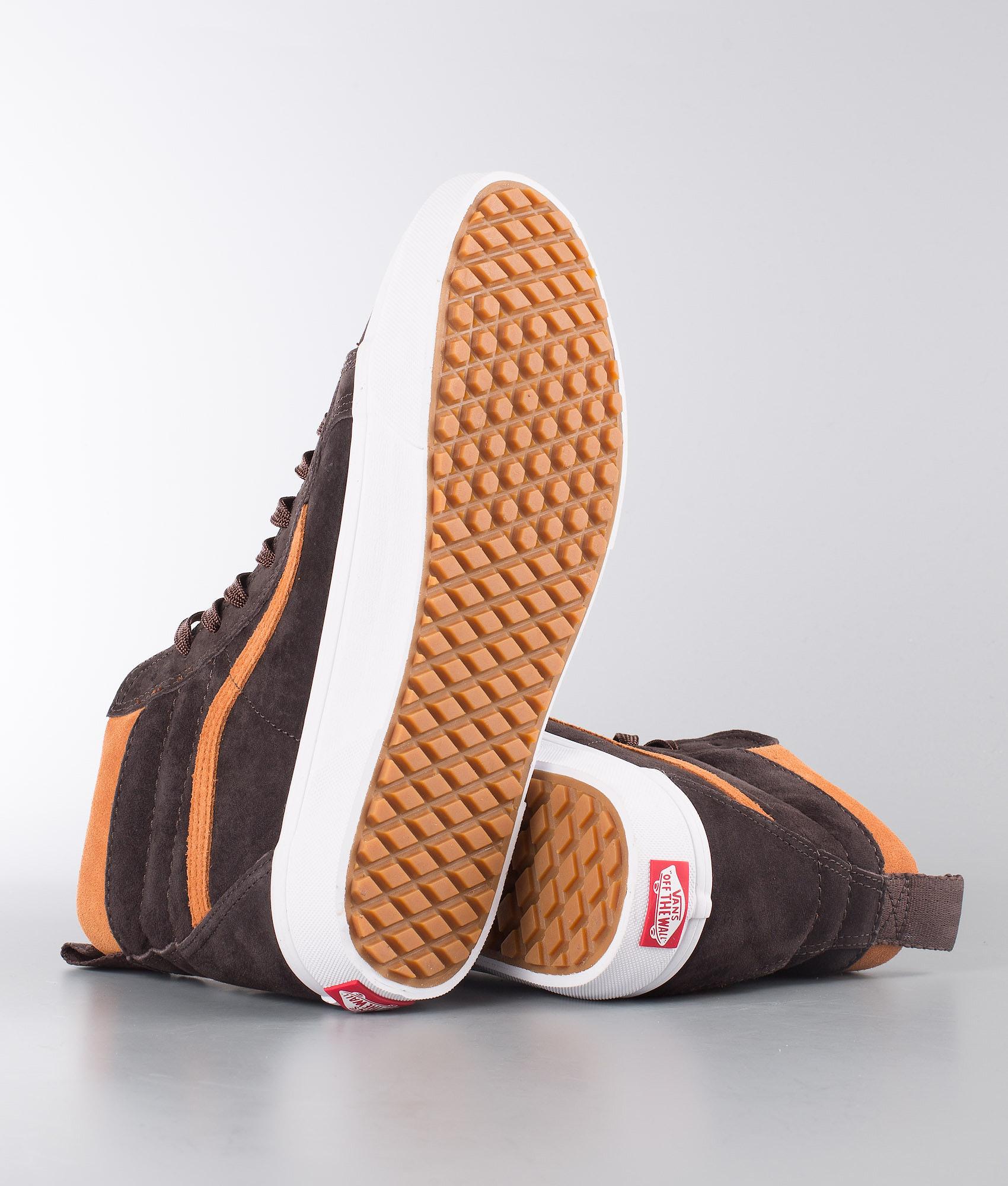 650d4fe0cd19de Vans Sk8-Hi Mte Shoes (Mte) Suede Chocolate Torte - Ridestore.com