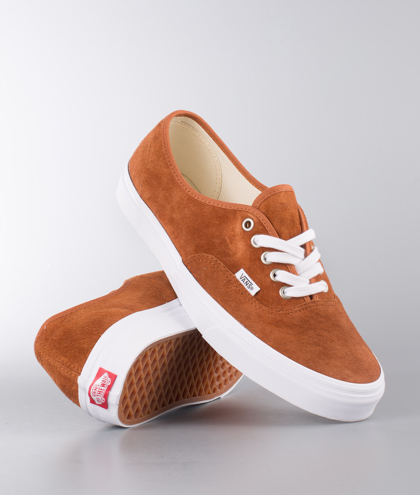 cba544c3a733 Vans Authentic Shoes (Pig Suede) Leather Brown True White ...