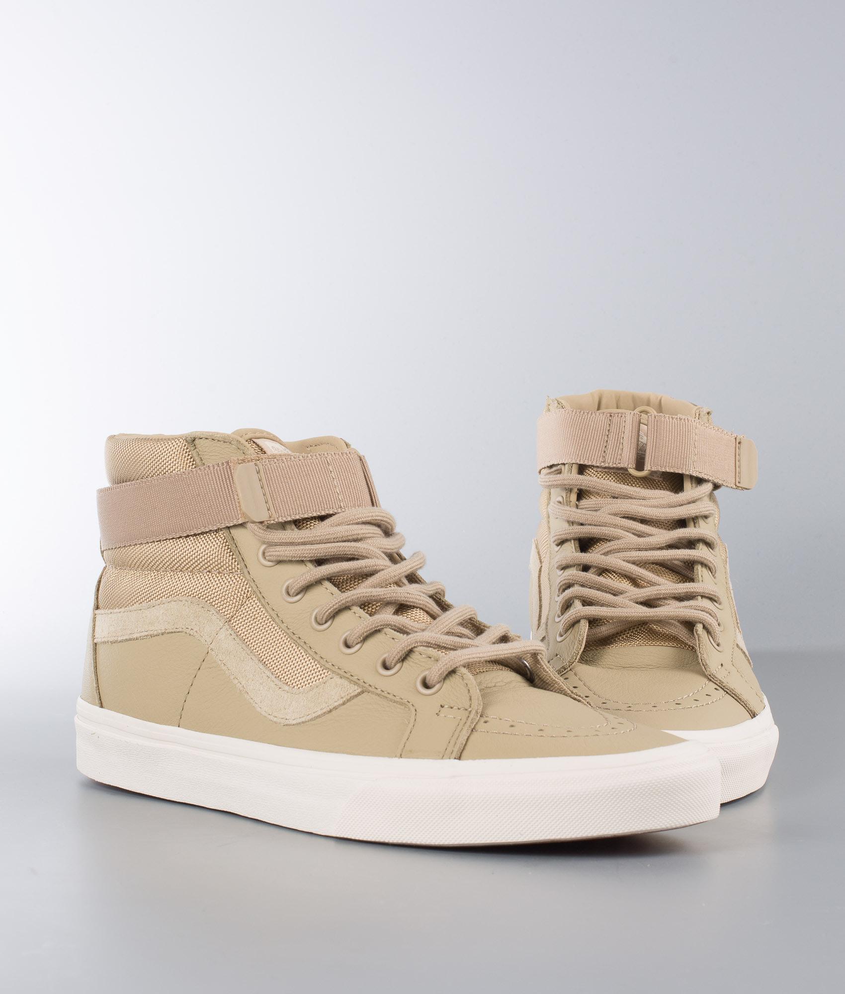 07539a1dc571b0 Vans Sk8-Hi Reissue Strap Schuhe (Leather) Ballistic Cornstalk ...