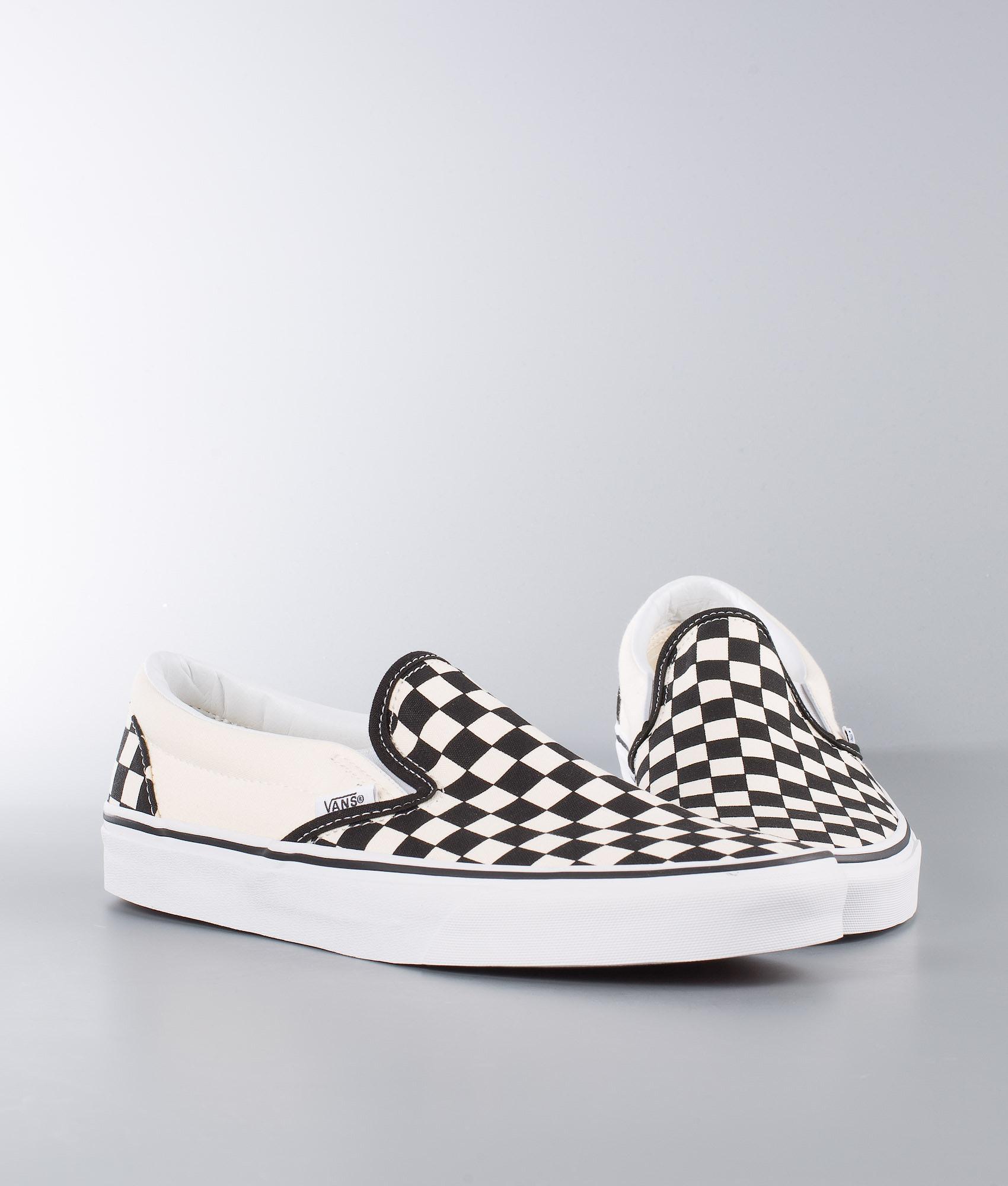 cddbb6e1e1b Vans Classic Slip-On Sko Black&White Checkerboard/White - Ridestore.no