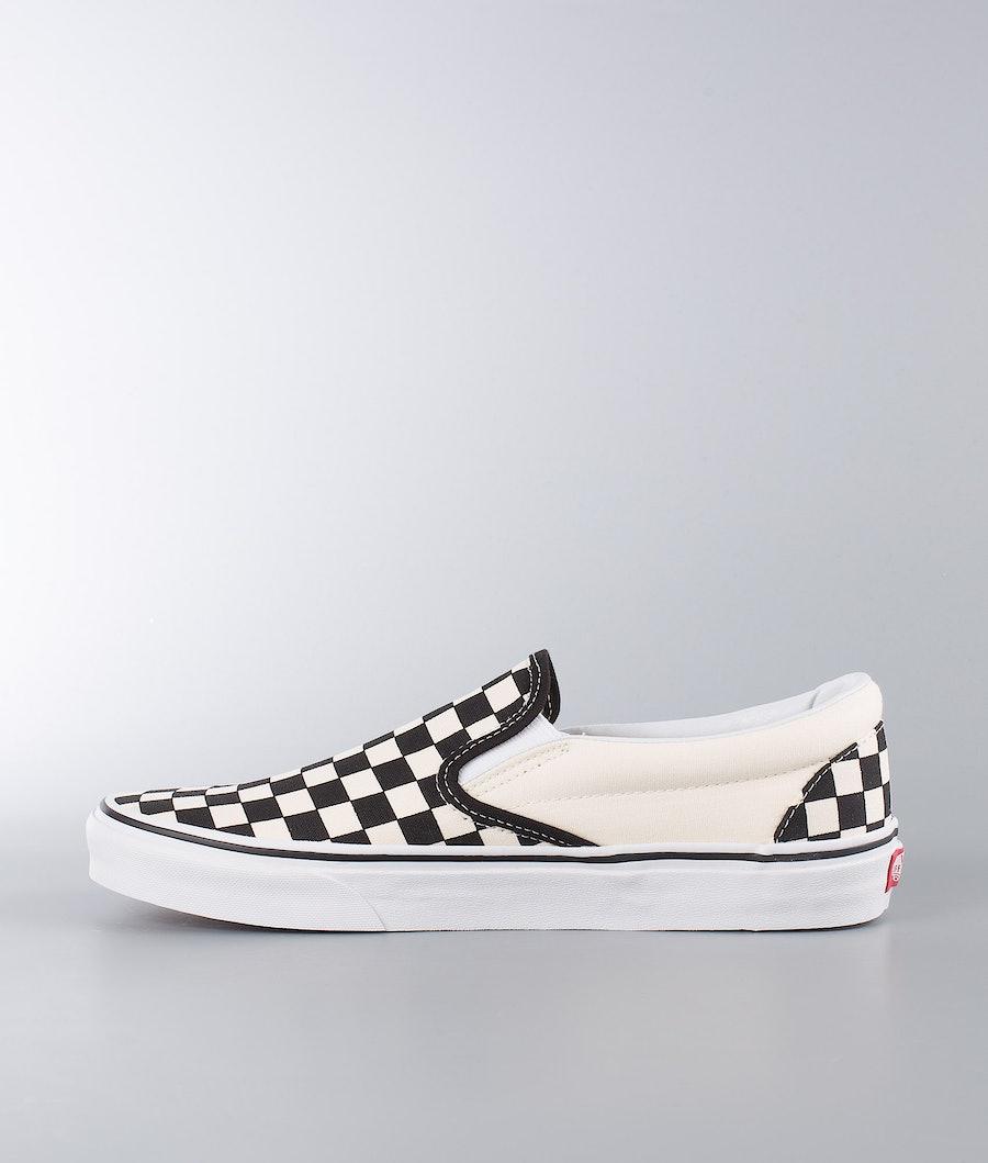 Vans Classic Slip-On Sko Black White Checkerboard/White