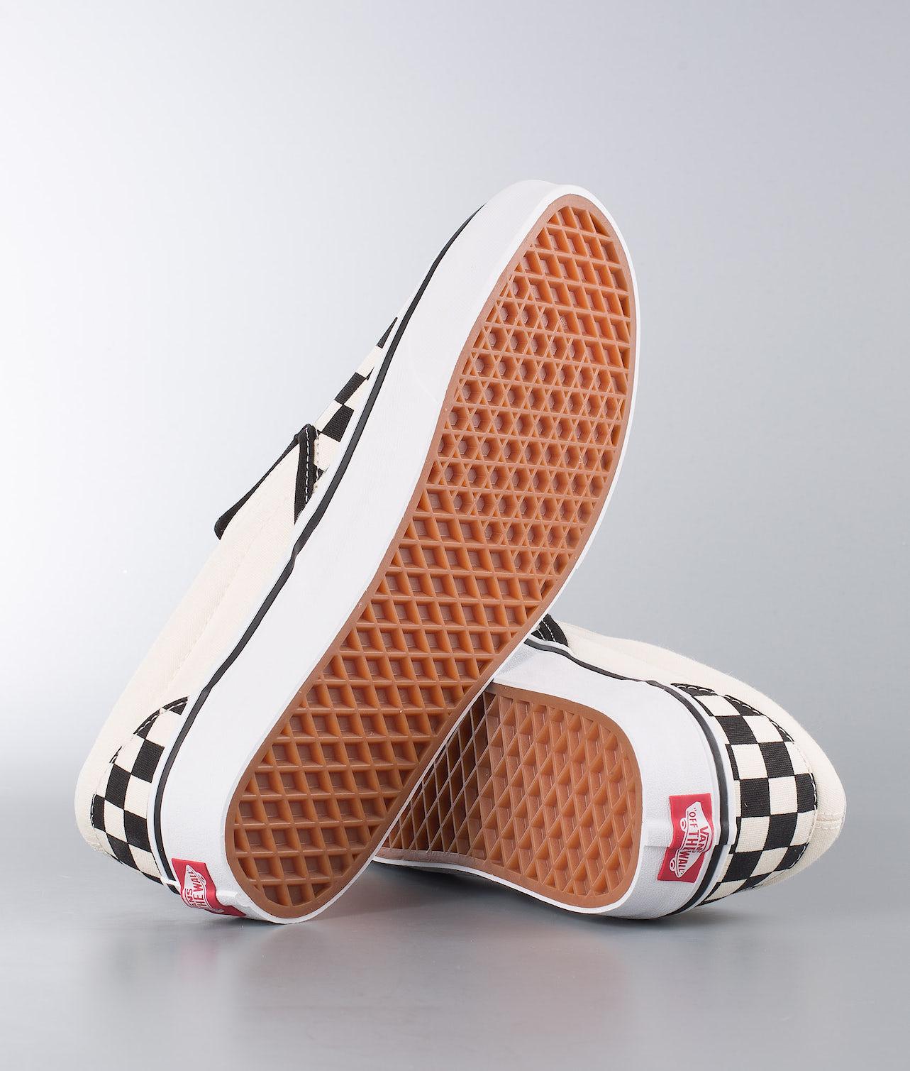 Vans Classic Slip-On Sko Black&White Checkerboard/White