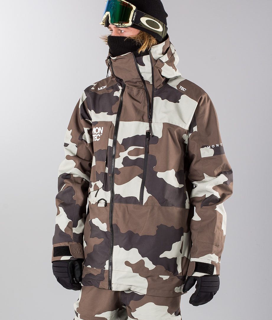 Montec Mount Snowboard Jacket Earth Camo