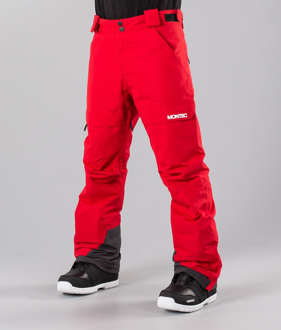 Montec Dune Pantaloni da snowboard Red