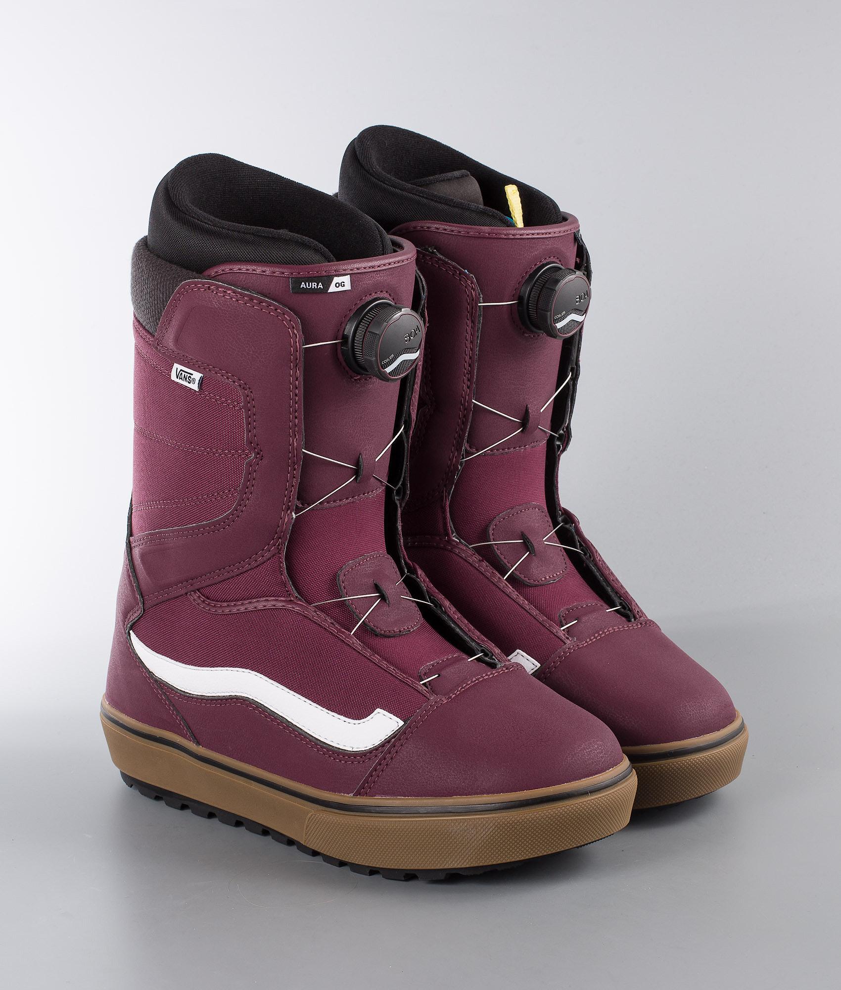 1199fd83bf Vans Aura OG Snowboard Boots Burgundy Gum - Ridestore.com