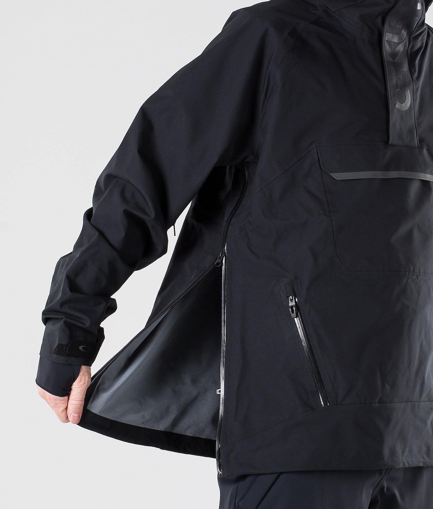 b64d002e6f7 Oakley Snow Shell 10K  2L Anorak Snowboard Jacket Blackout ...