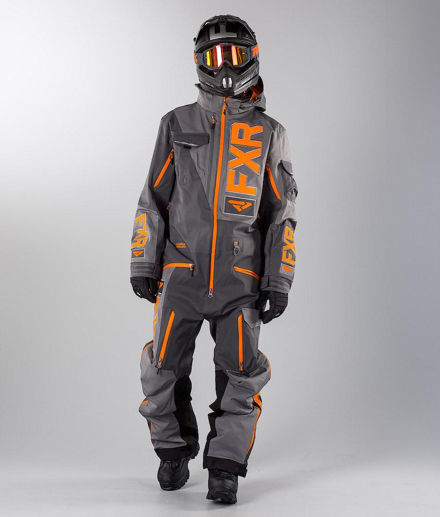 FXR Ranger Instinct Lite Monosuit Charcoal/Grey/Orange