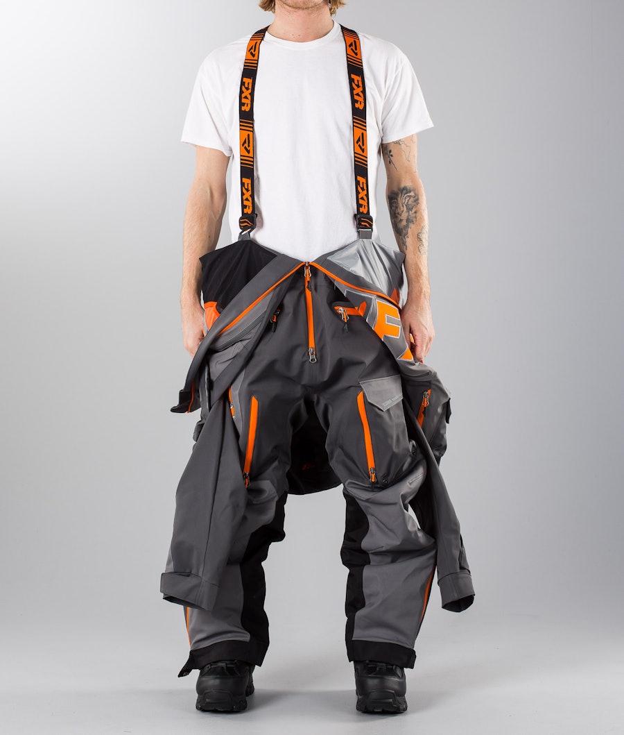 FXR Ranger Instinct Lite Overall Charcoal/Grey/Orange