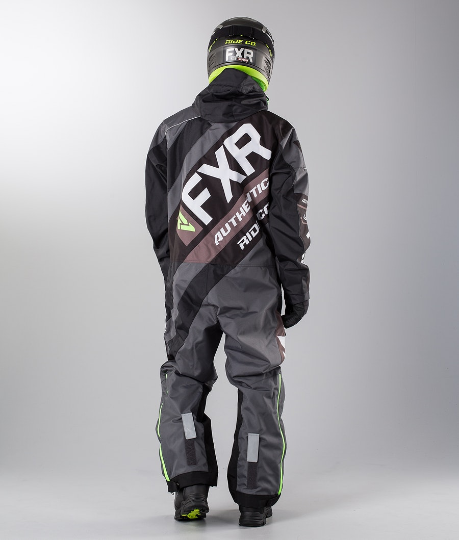 FXR CX Lite Overall Charcoal/Black/Lt Grey/Lime