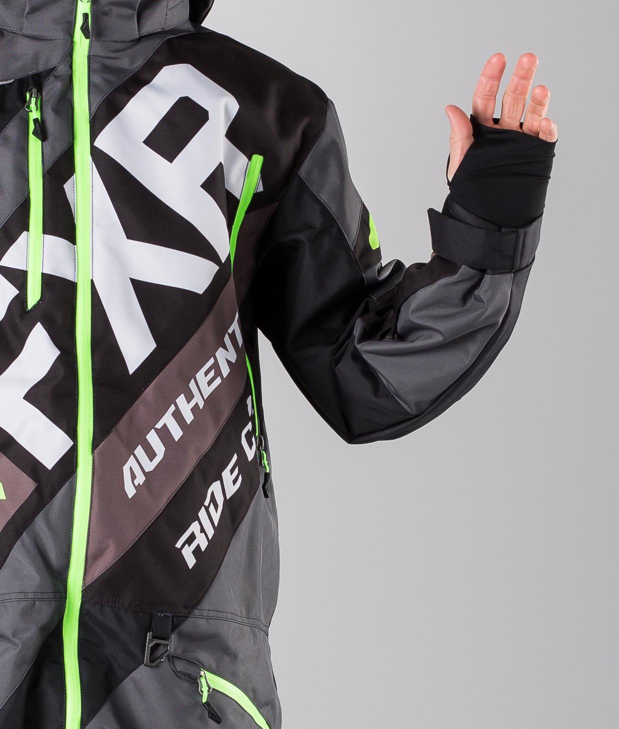 FXR CX Lite Haalari CharcoalBlackLt GreyLime Ridestore.fi