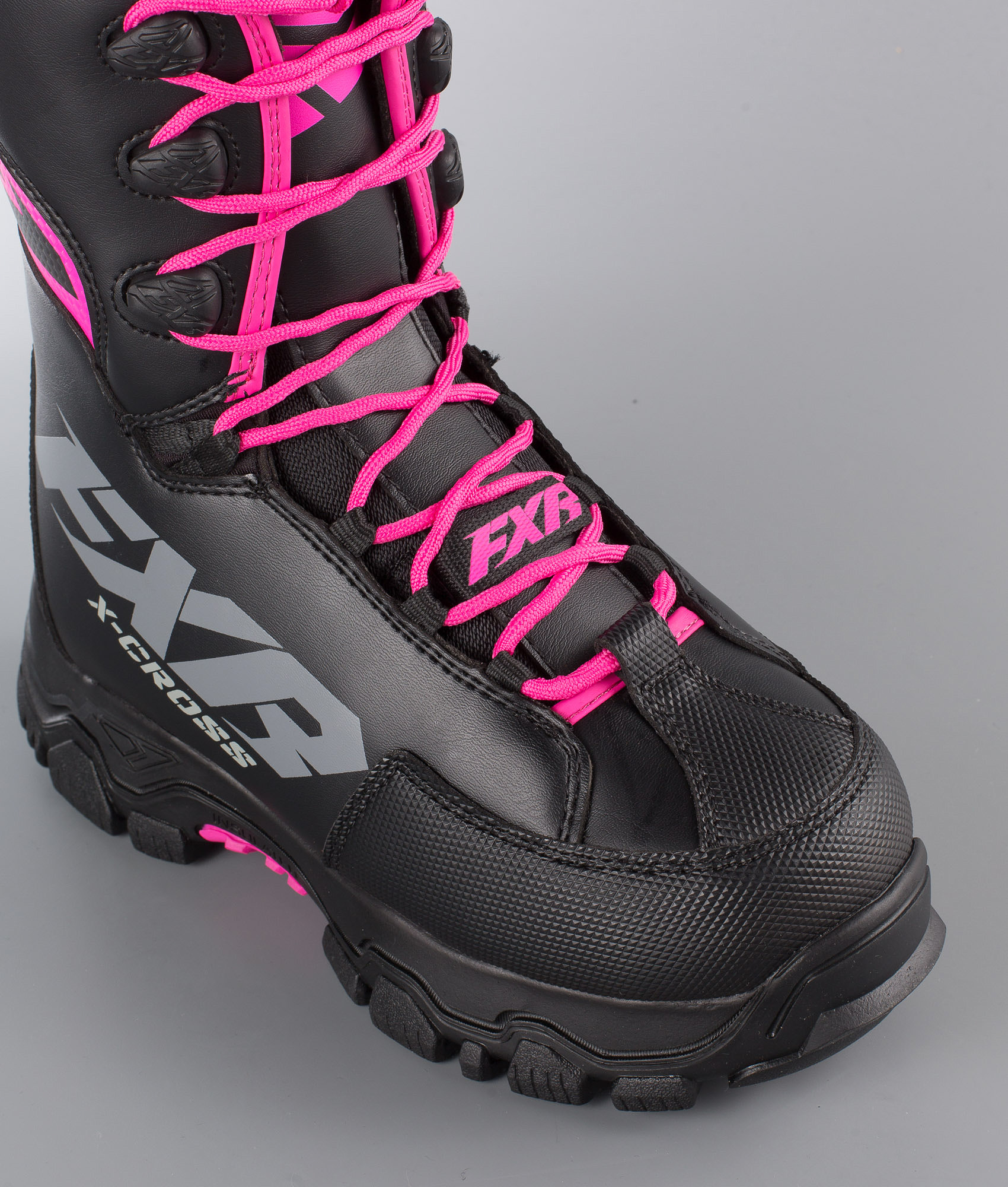 b6f9a23c5ac FXR X-Cross Speed Snøscooterstøvler Black/Fuchsia - Ridestore.no
