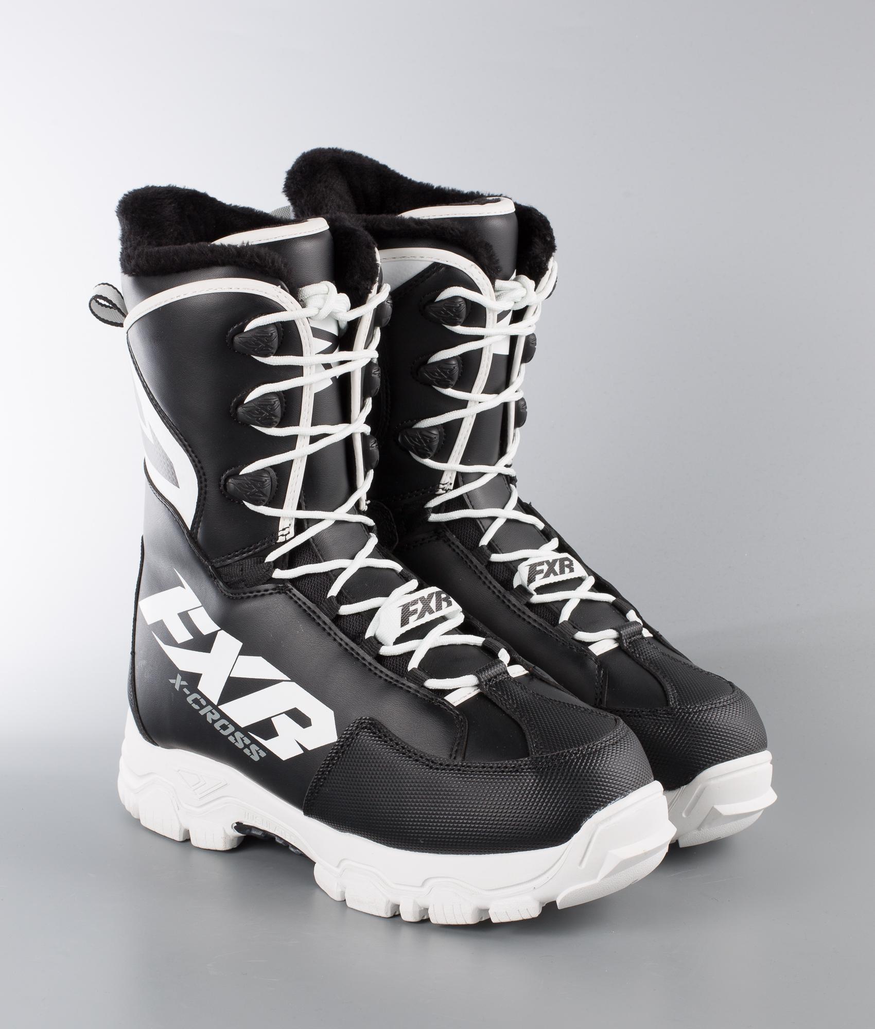 FXR X Cross Speed Boots Skoter BlackWhite Ridestore.se