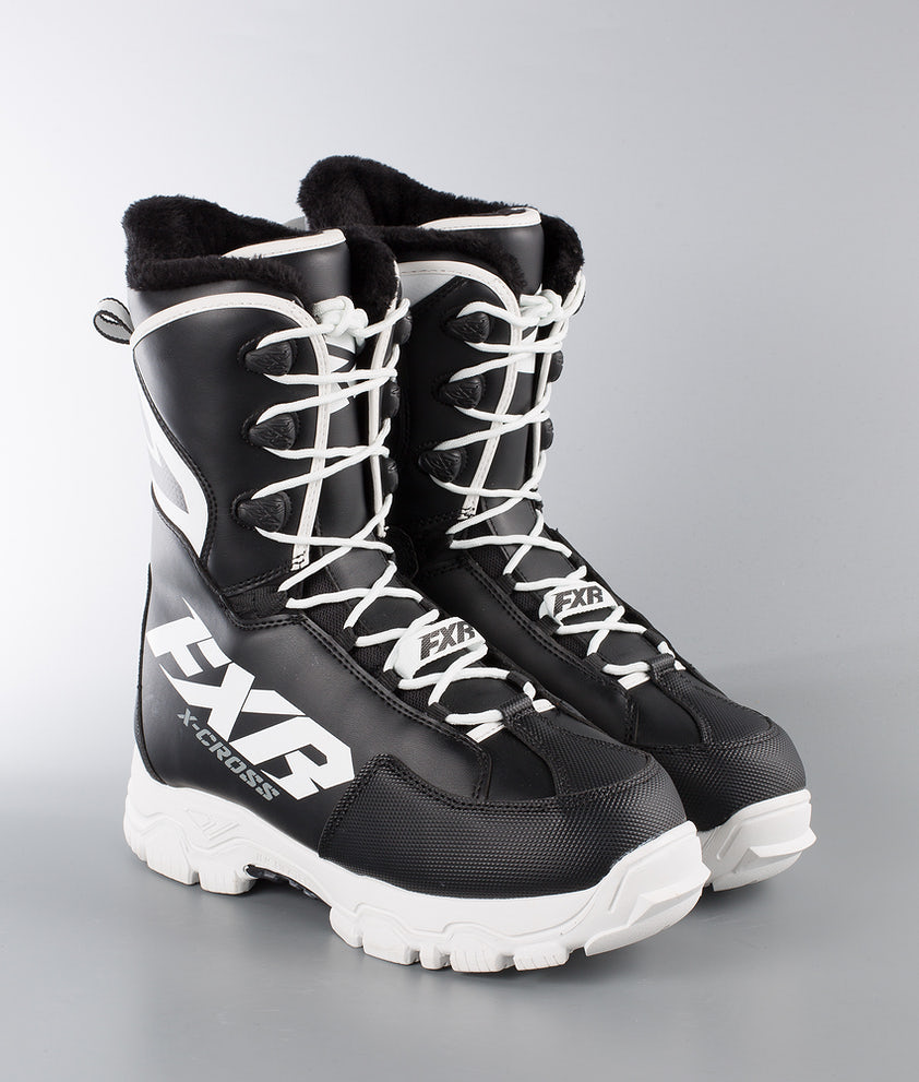 FXR X-Cross Speed Snøscooterstøvler Black/White