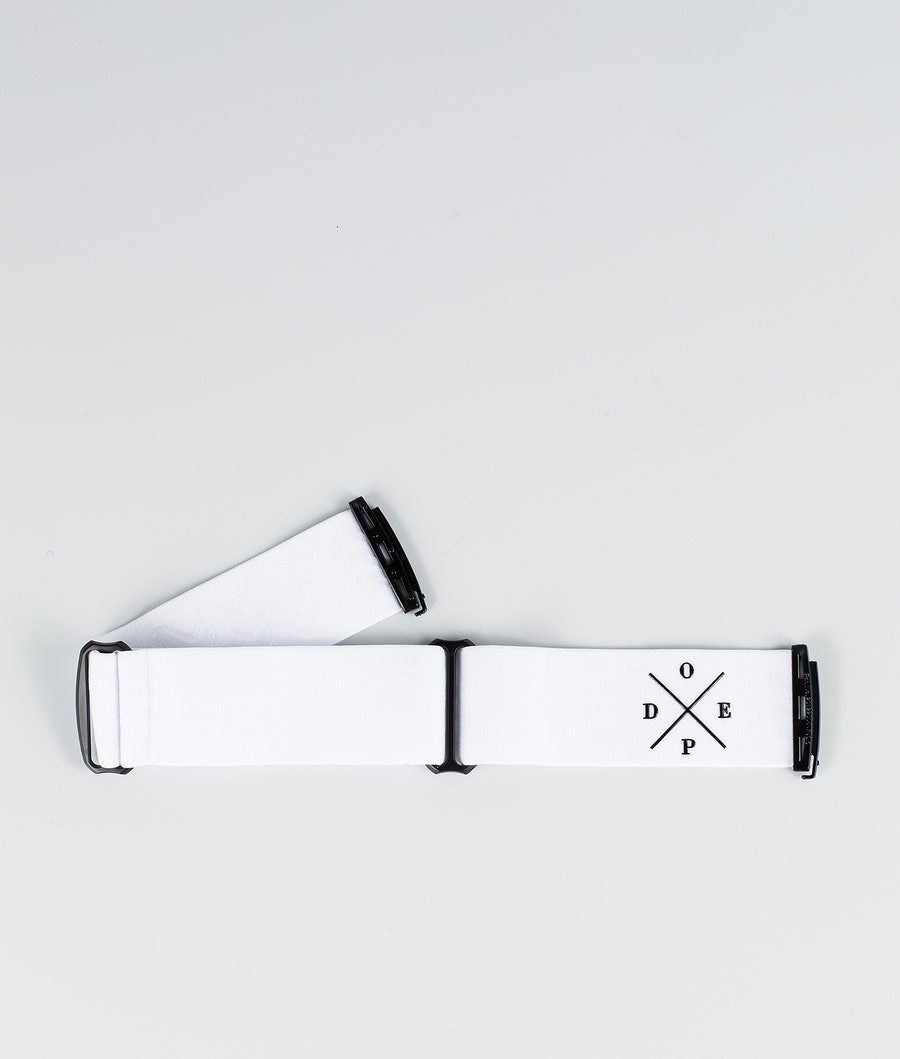 Dope 2X-UP Strap Skibrille Zubehör White Black