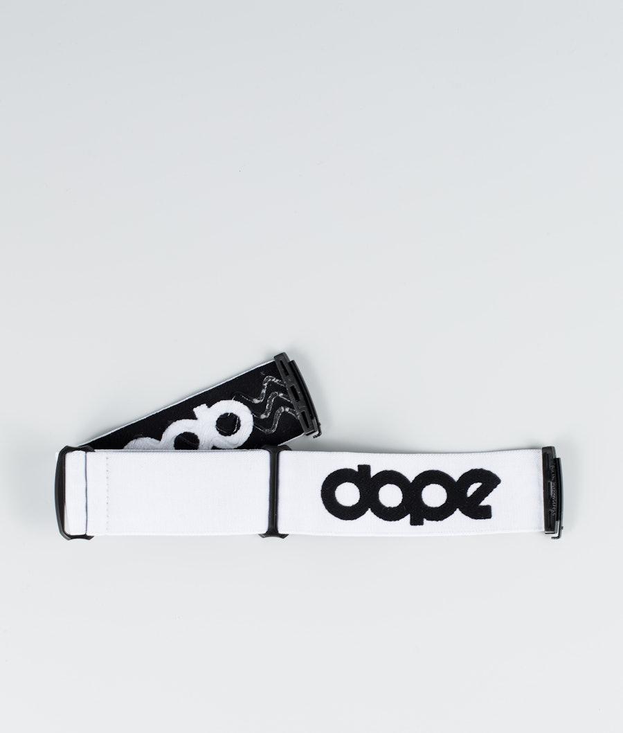 Dope OG Strap Goggle Tilbeør White Black