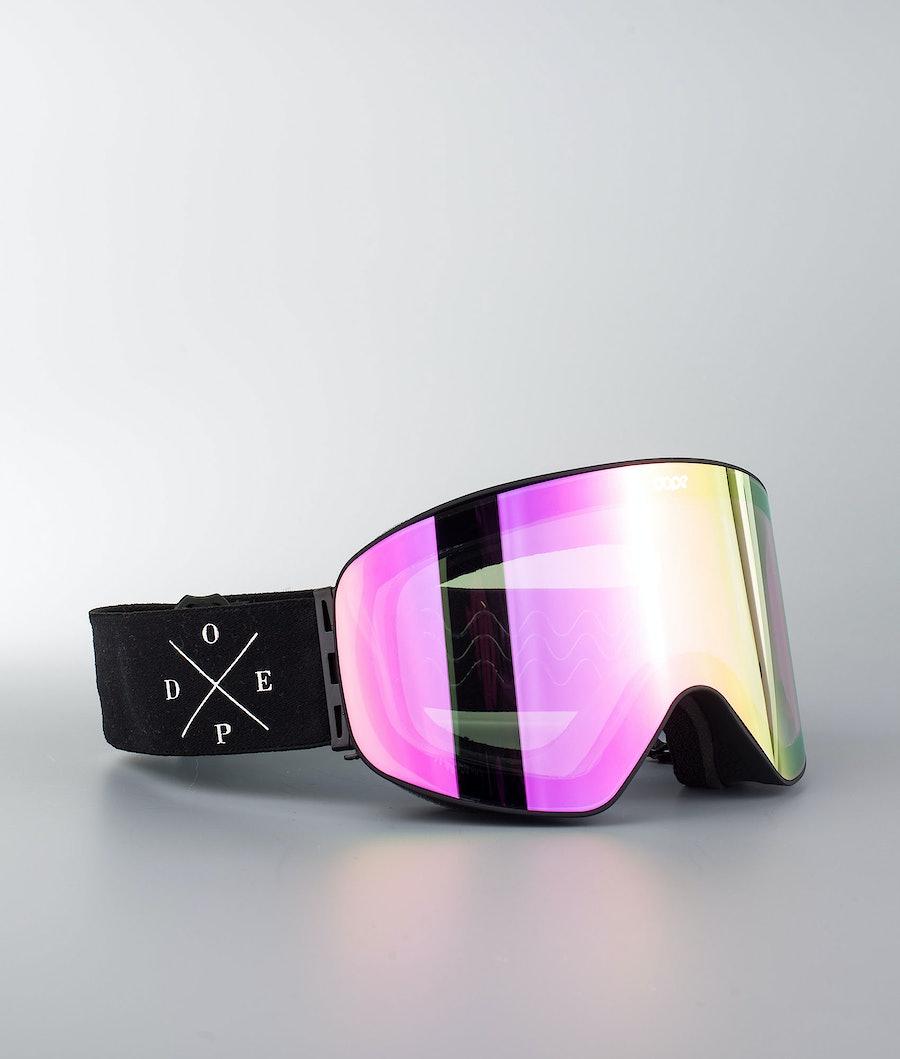 Dope Flush 2X-UP Maschera Snow Black W/Black Pink Mirror