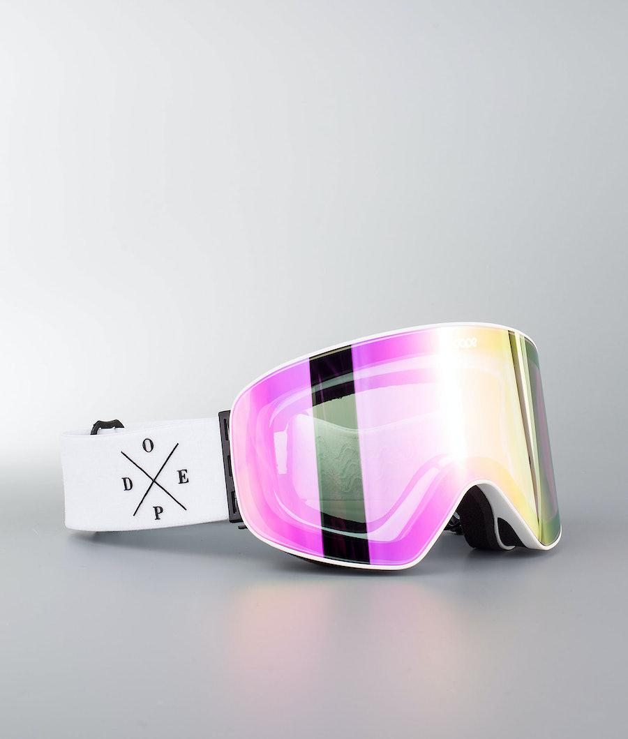 Dope Flush 2X-UP Maschera Snow White W/White Pink Mirror