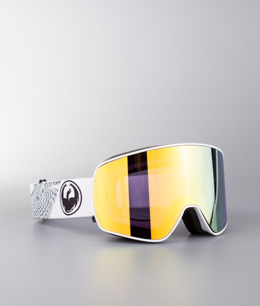 Dragon NFX2 Masque de ski Prey W/Lumalens Gold Ionized+Dark Smoke