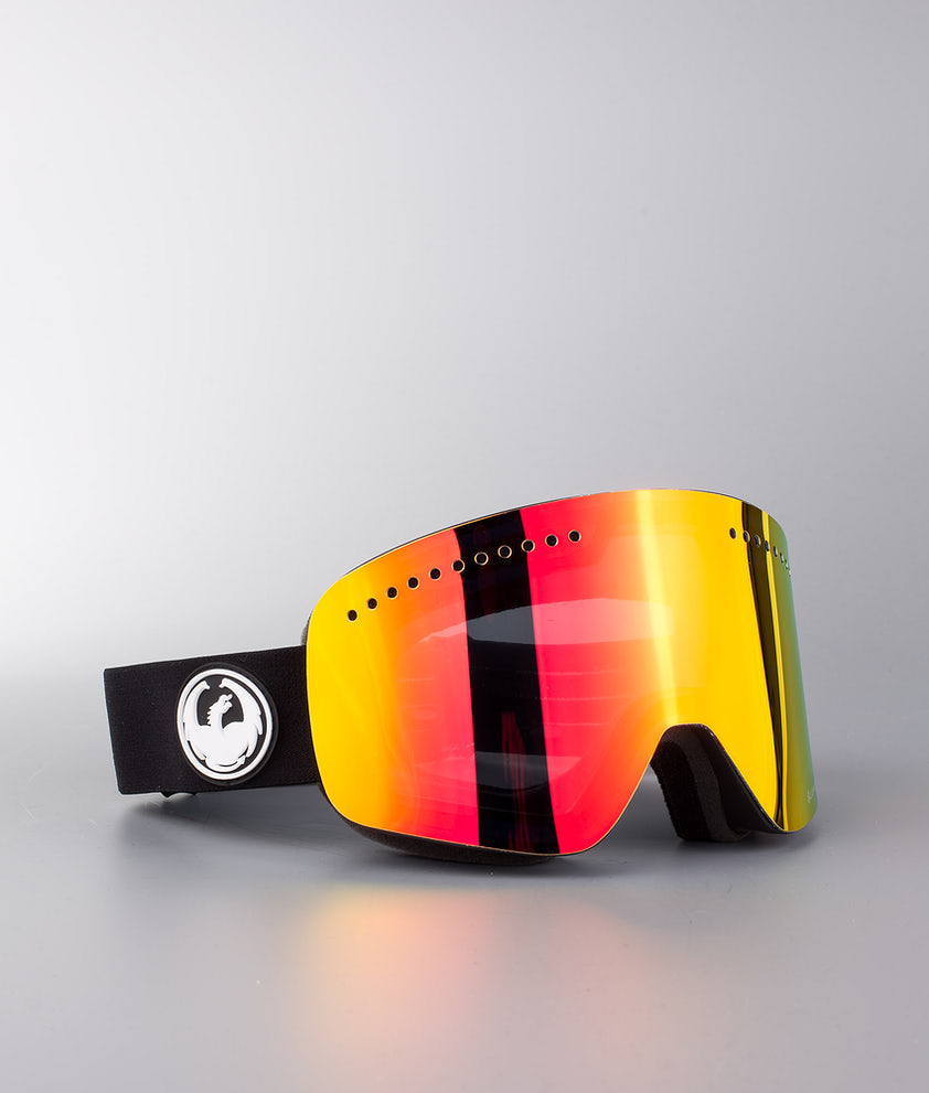 Dragon NFX Ski Goggle Black w/Lumalens Red Ion+Lumalens Rose