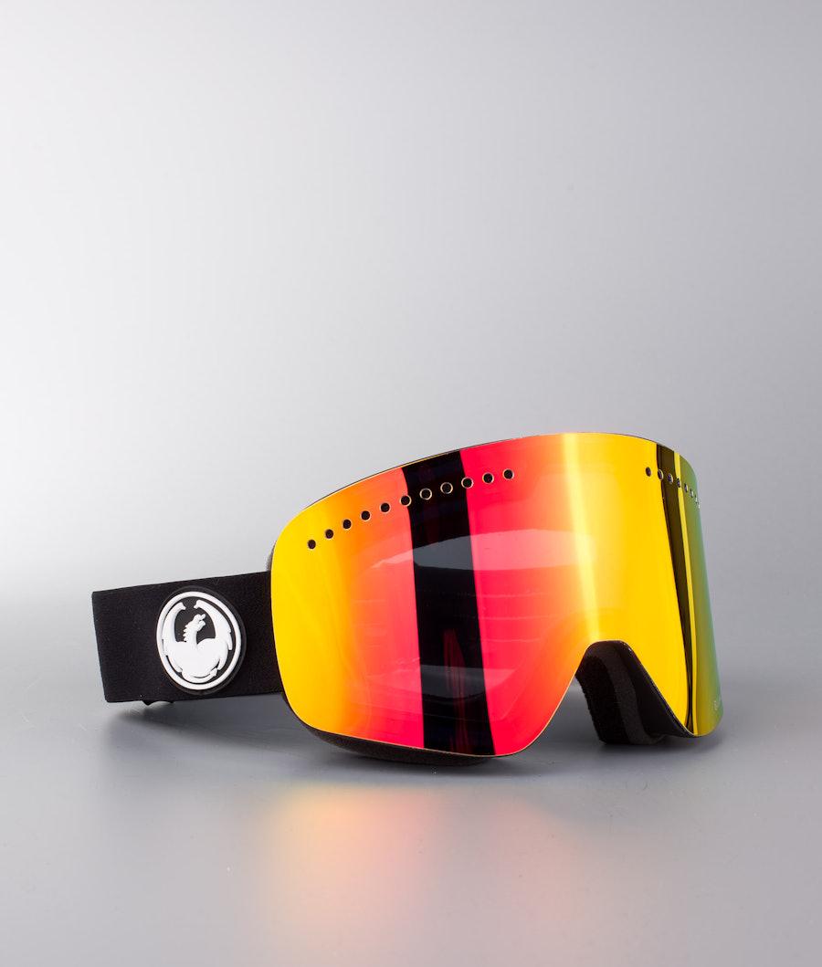 Dragon NFX Skibriller Black w/Lumalens Red Ion+Lumalens Rose