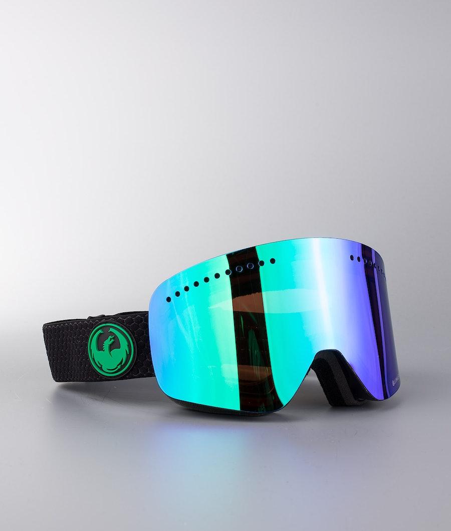 Dragon NFX Maschera Snow Split w/Lumalens Green Ion+Lumalens Amber