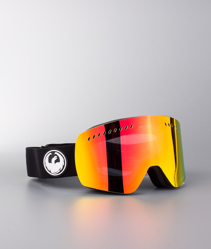 Dragon NFXs Ski Goggle Black w/Lumalens Red Ion+Lumalens Rose