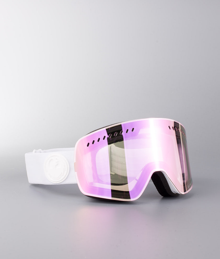 Dragon NFXs Masque de ski Whiteout W/Lumalens Pink Ionized