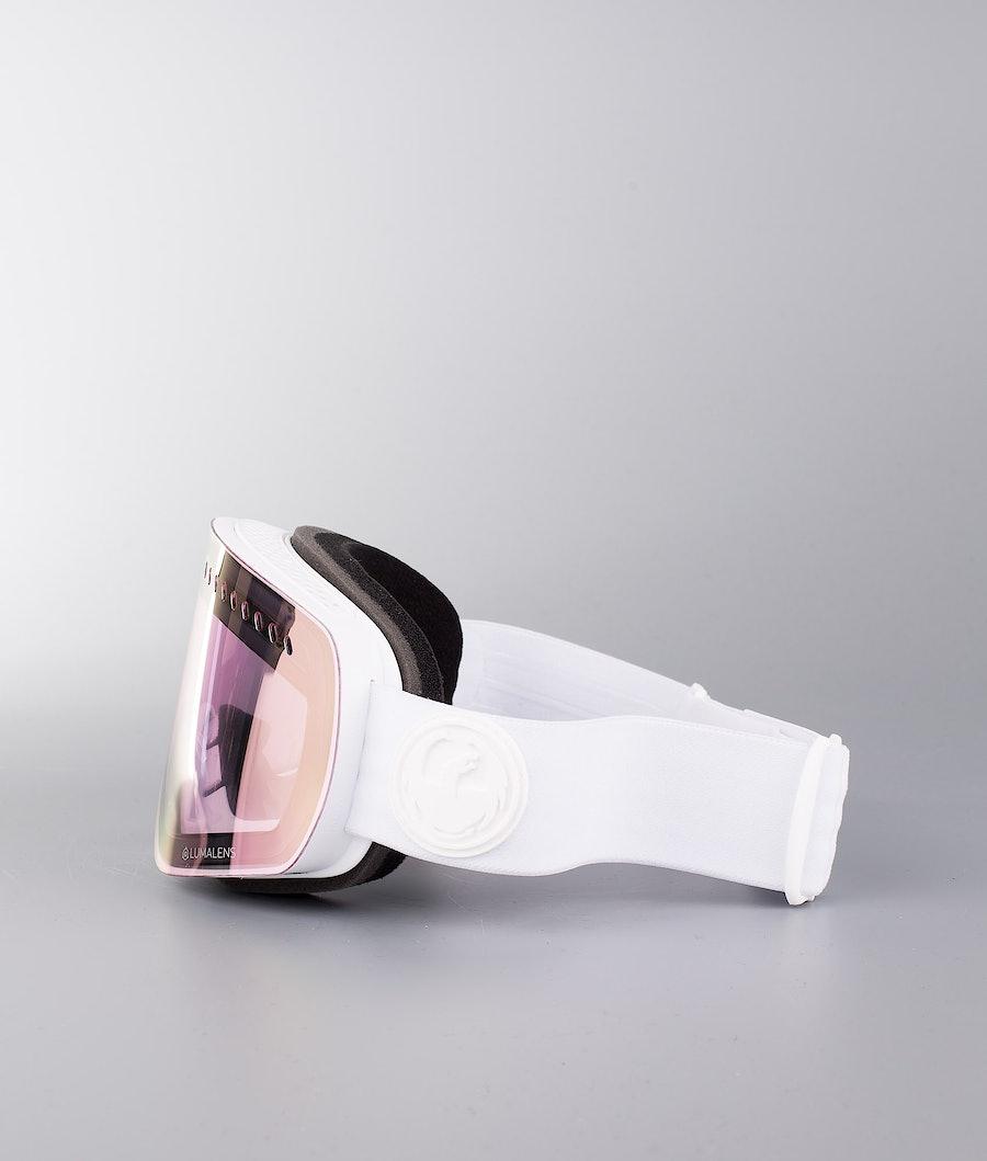 Dragon NFXs Skibrille Whiteout W/Lumalens Pink Ionized