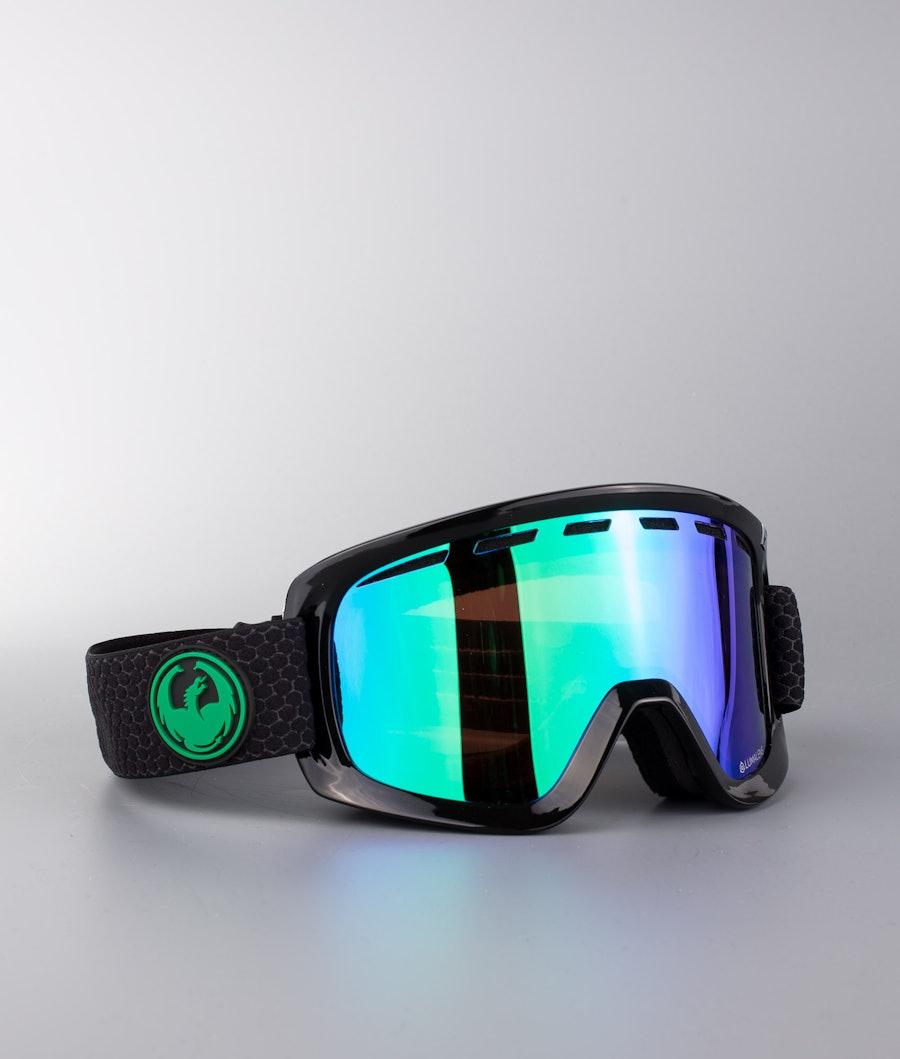 Dragon D1 OTG Ski Goggle Split w/Lumalens Green Ion+Lumalens Amber