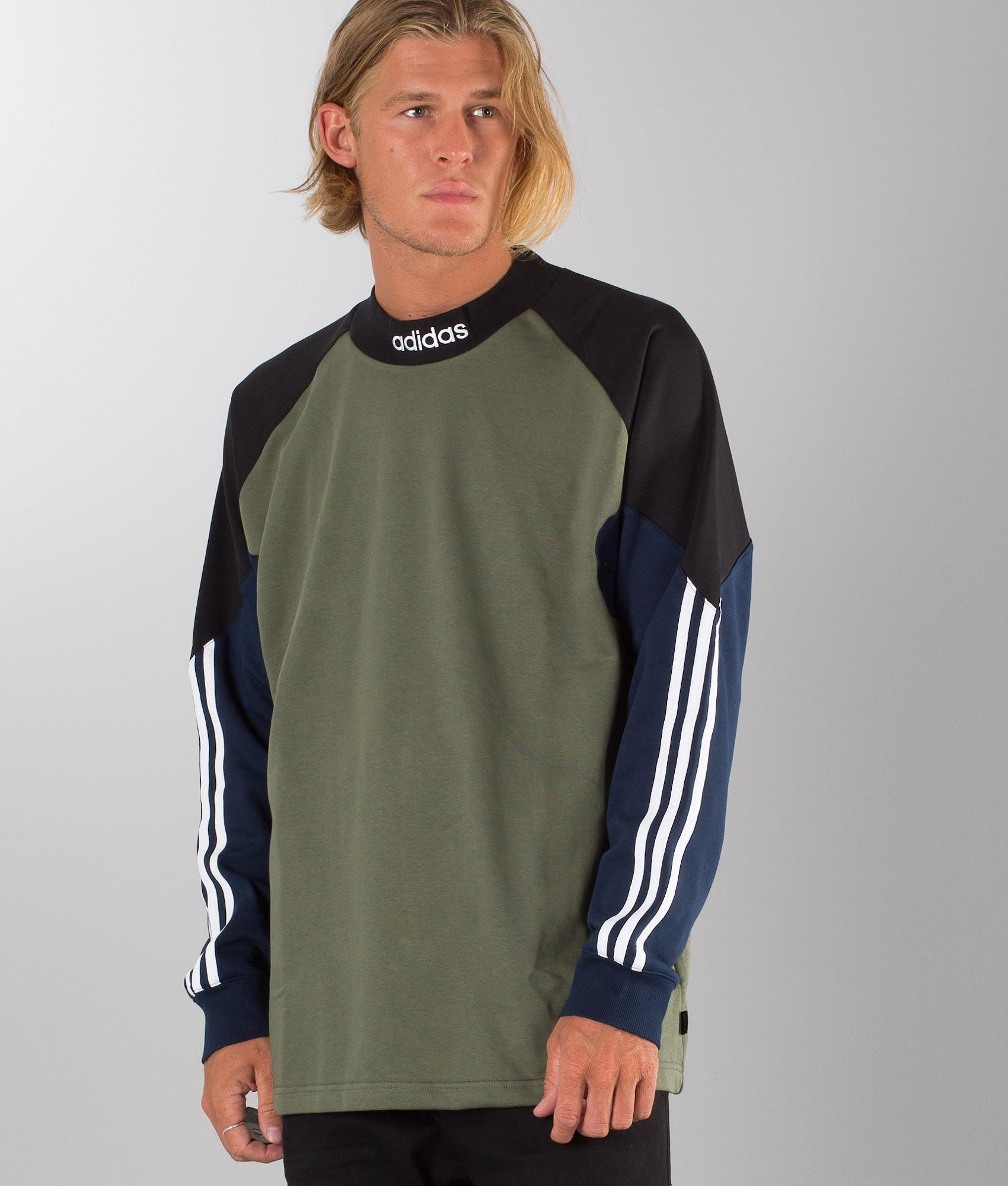0bcc44691 Adidas Skateboarding Goalie Sweater Army Green. Base Green/Black/Collgegiate  Navy