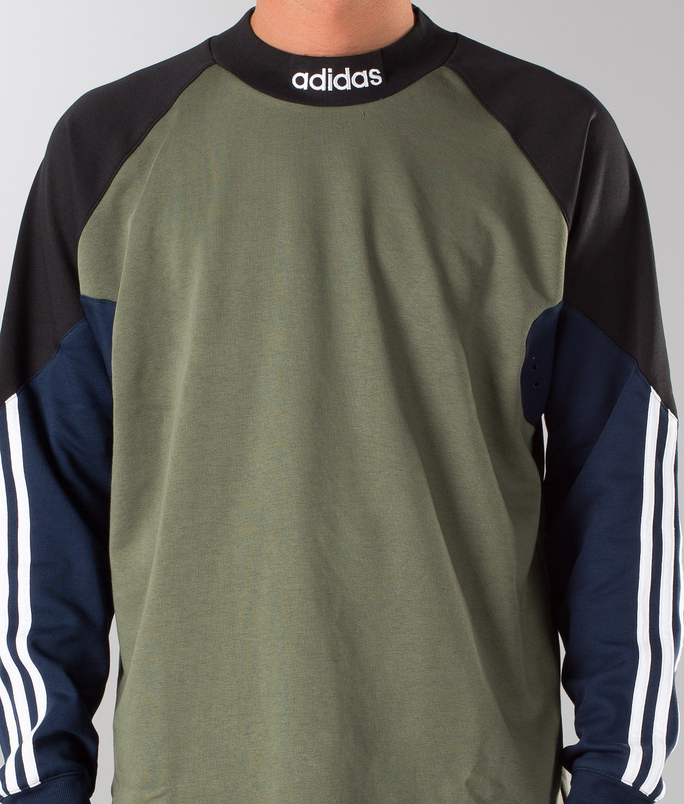 384cf34f080 Adidas Skateboarding Goalie Sweater Base Green/Black/Collgegiate ...