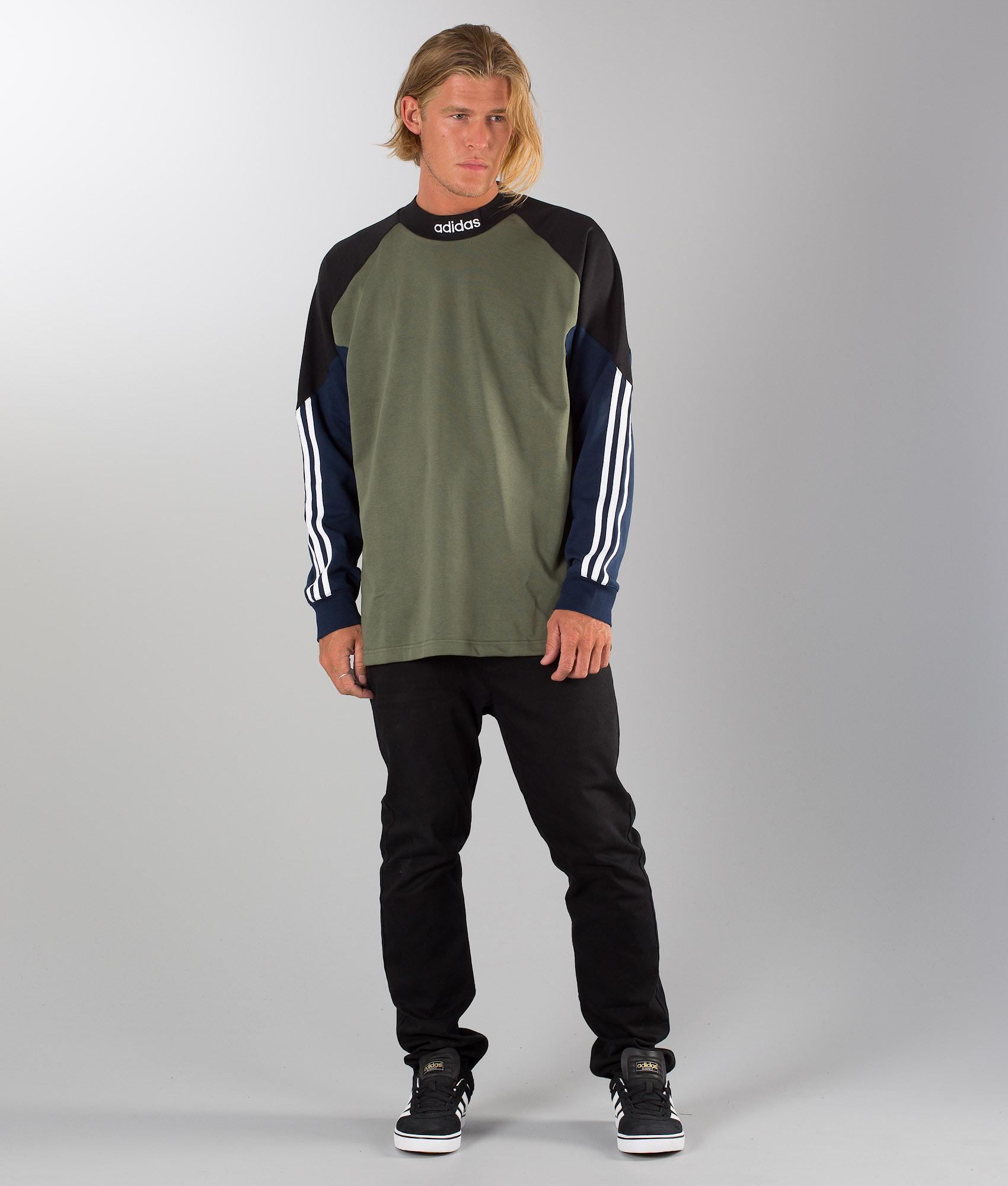 0bc392e5e14 Adidas Skateboarding Goalie Sweater Base Green Black Collgegiate ...