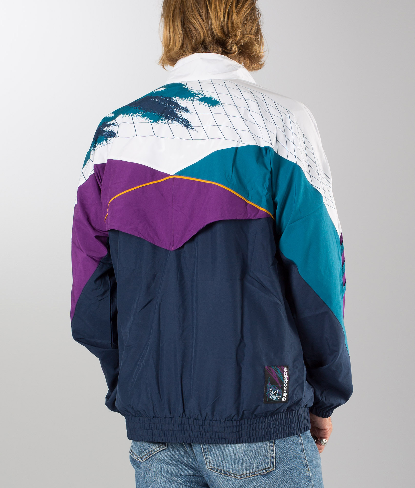 c7b90c369b81 Adidas Skateboarding Court Jacket White/Collgegiate Navy/Tribe Purple/