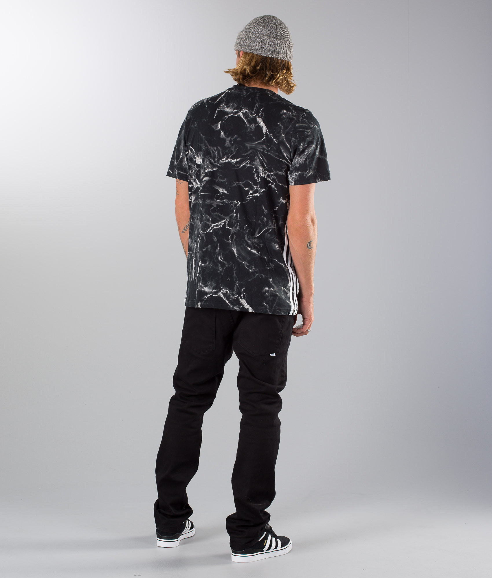 6d8fb4d31b20 Adidas Skateboarding Marble Stripe T-shirt Black White - Ridestore.com