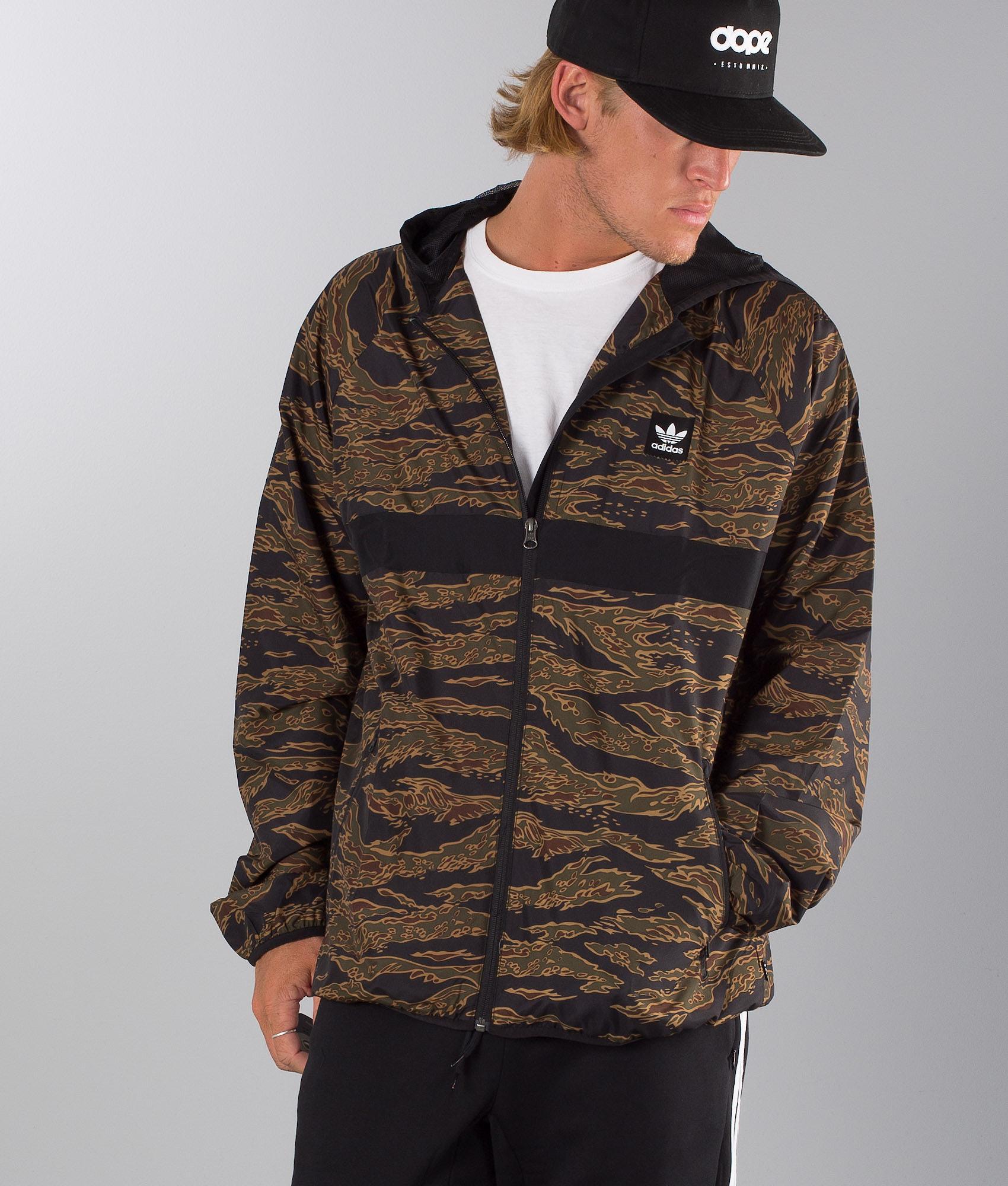 a17c115378 Adidas Skateboarding Camo Blackbird Packable Jacket Camo Print Black ...