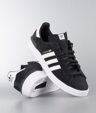 shopping wide range price reduced Adidas Skateboarding Campus Adv Shoes Core Black/Ftwr White/Ftwr White