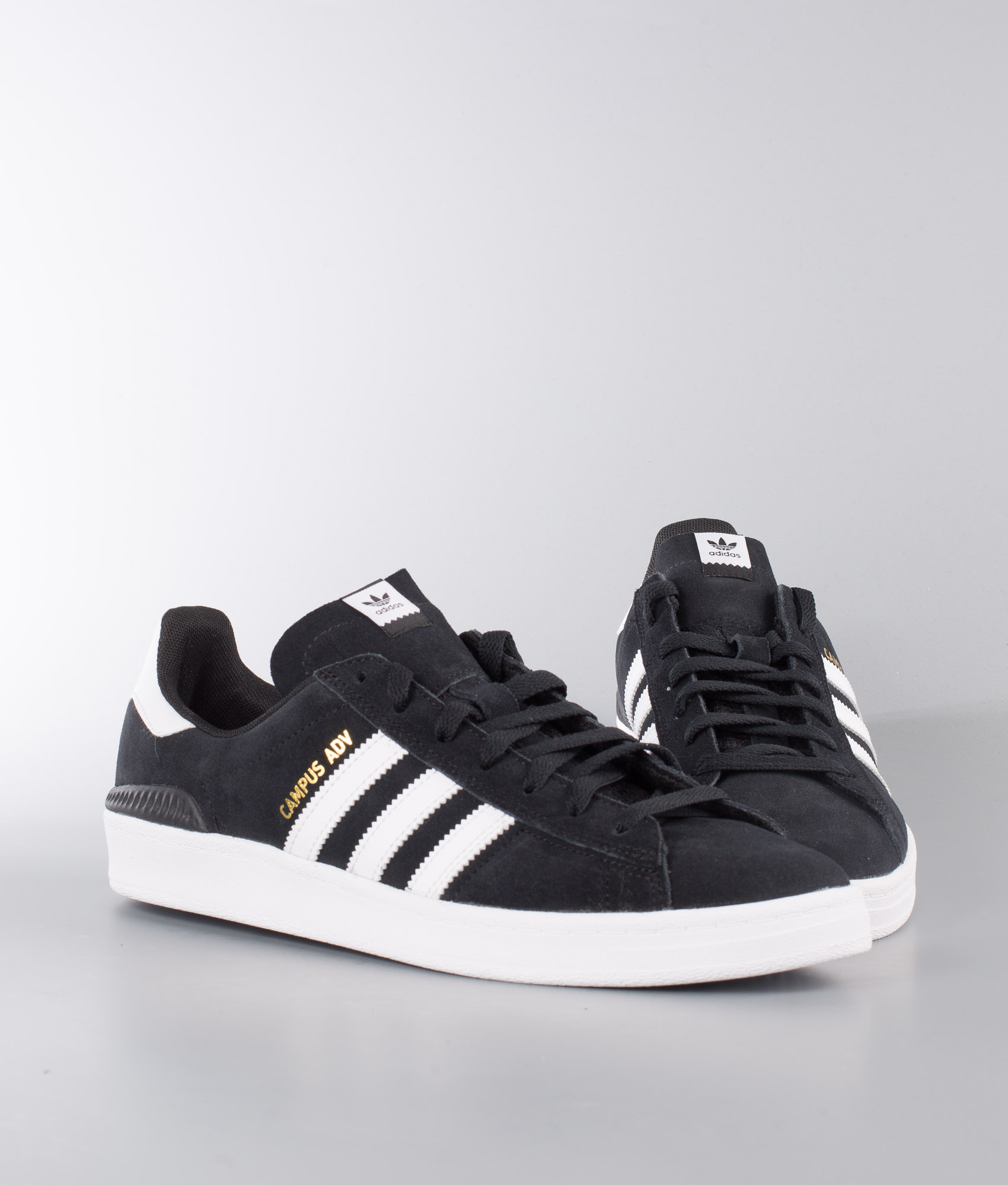 Adidas Skateboarding Campus Adv Shoes Core BlackFtwr WhiteFtwr White