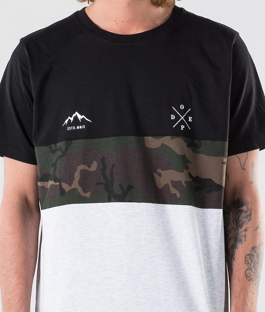Dope Storm II T-shirt Black/ Camo Grey Melange