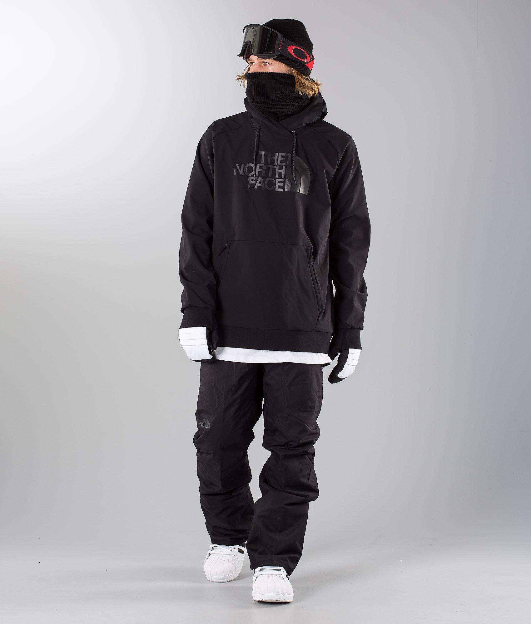 The North Face Tekno Logo Hoodie Snowboard Jacket Black - Ridestore.com 31b5c77ea