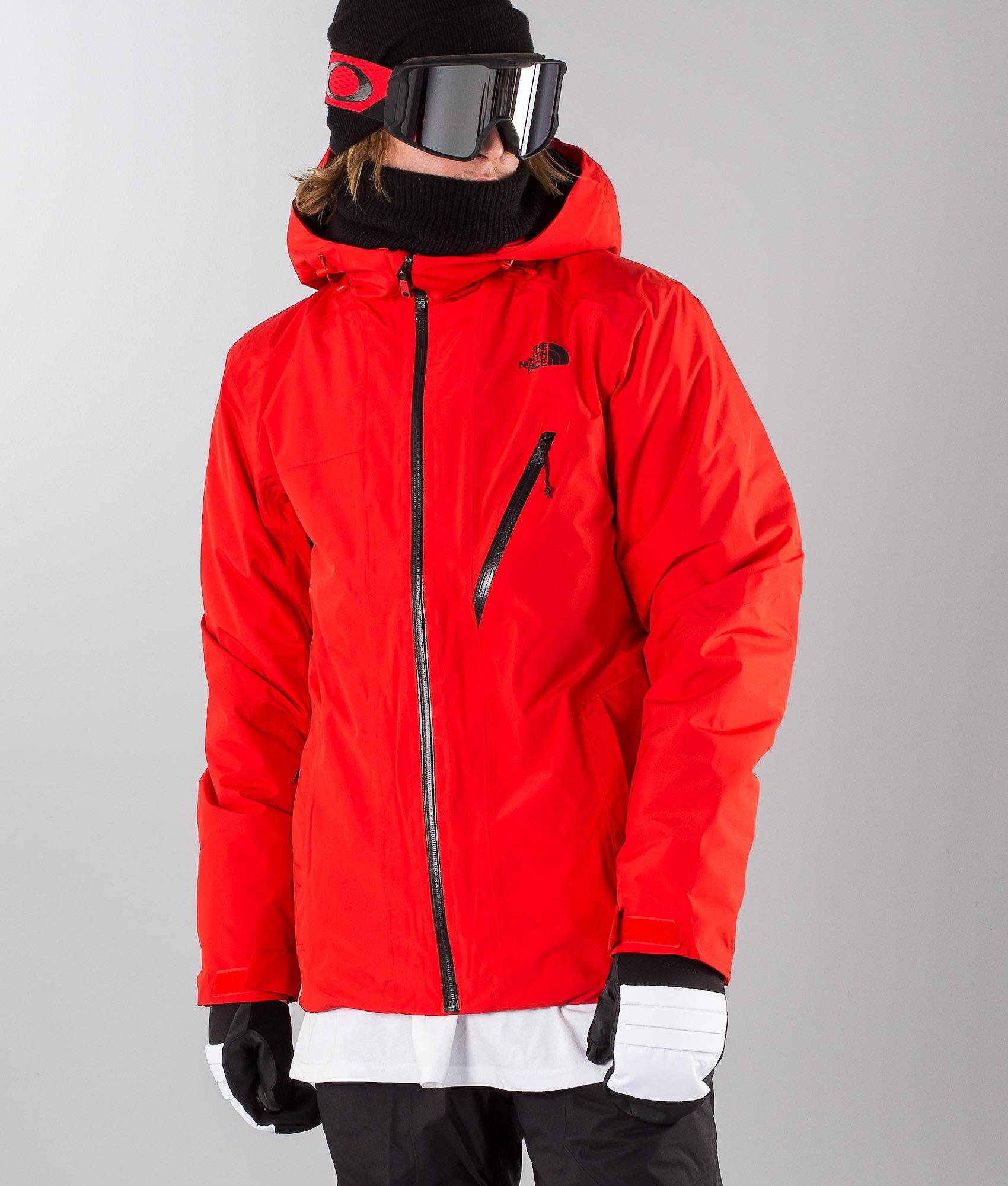 33b908d287 The North Face Descendit Snowboard Jacket Fiery Red - Ridestore.com