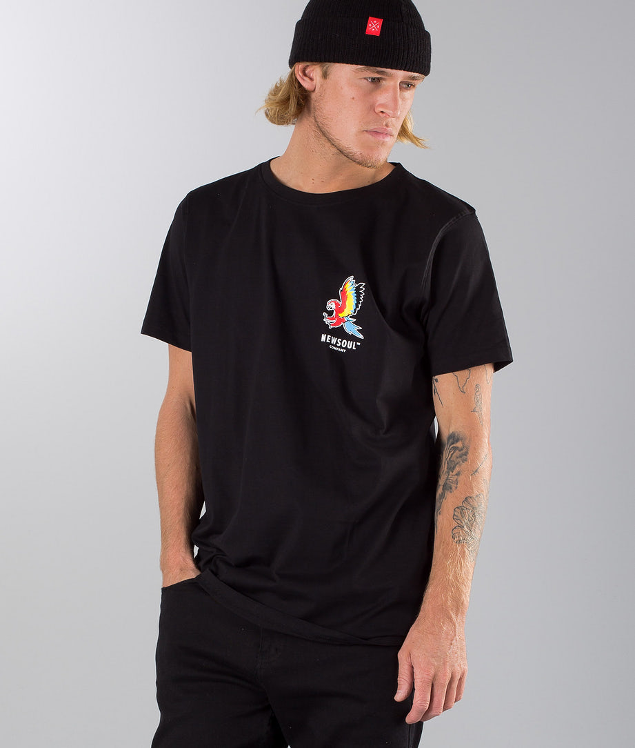 Newsoul Birdie namnam T-shirt Black