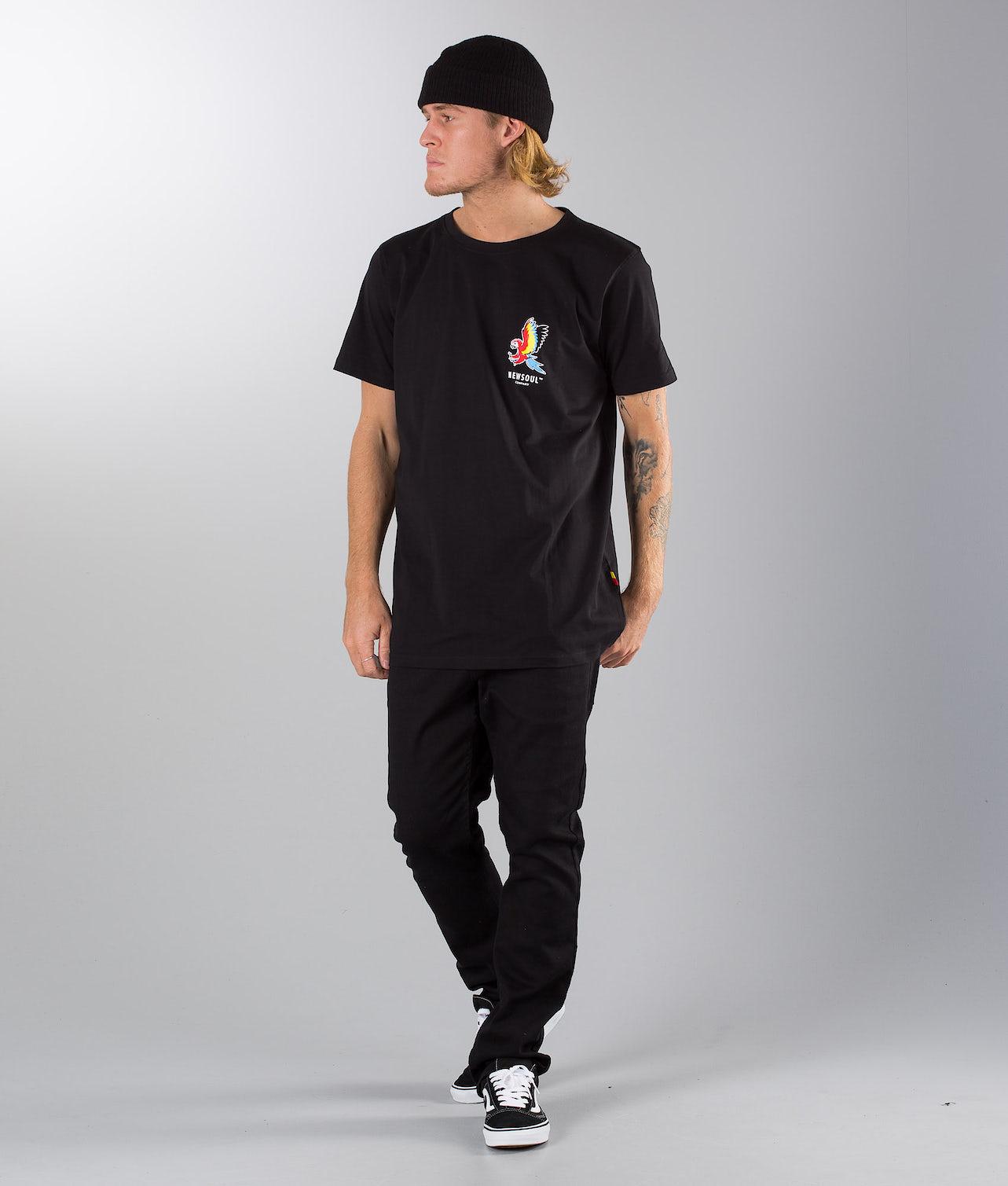 Newsoul Birdie namnam T-shirt Black